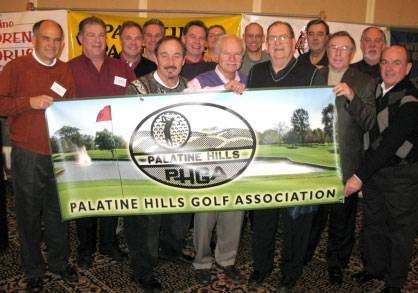 Members of the Palatine Hills Golf Association at the Palatine Park District Volunteer of the Year luncheon.Palatine Hills Golf Association