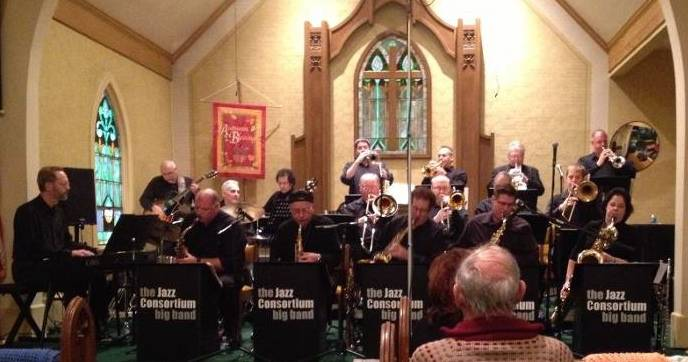 The Jazz Consortium Big Band in concert at Congregational Church of Algonquin.Lori Miller