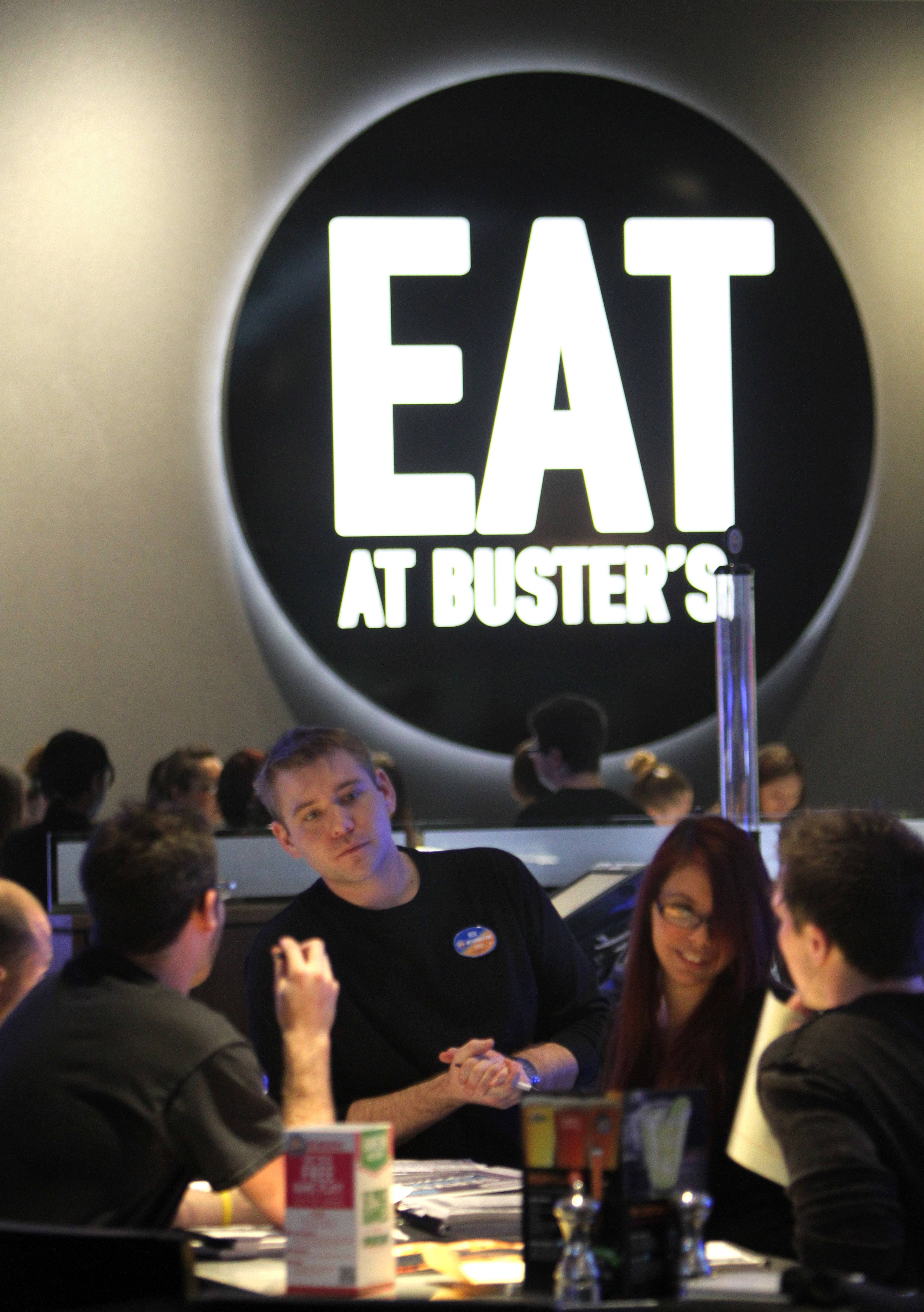Employees go through training in preparation for the public opening Wednesday of the Dave & Buster's at Westfield Hawthorn mall in Vernon Hills.