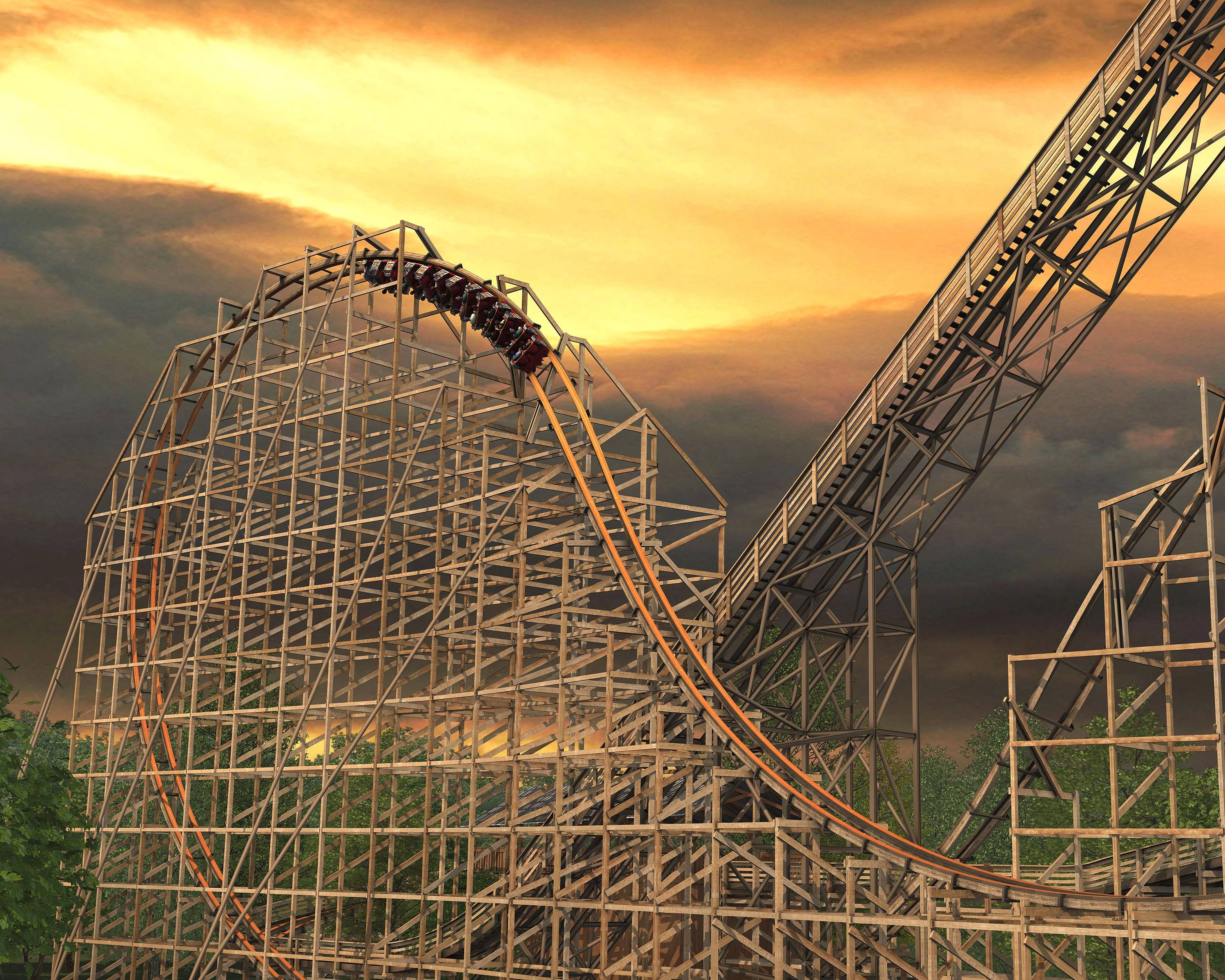 Hold on to your stomach. Great America's new Goliath roller coaster, set to debut this spring in Gurnee, is said to be the world's fastest wooden roller coaster. It also features the tallest drop of a wooden coaster -- 180 feet.