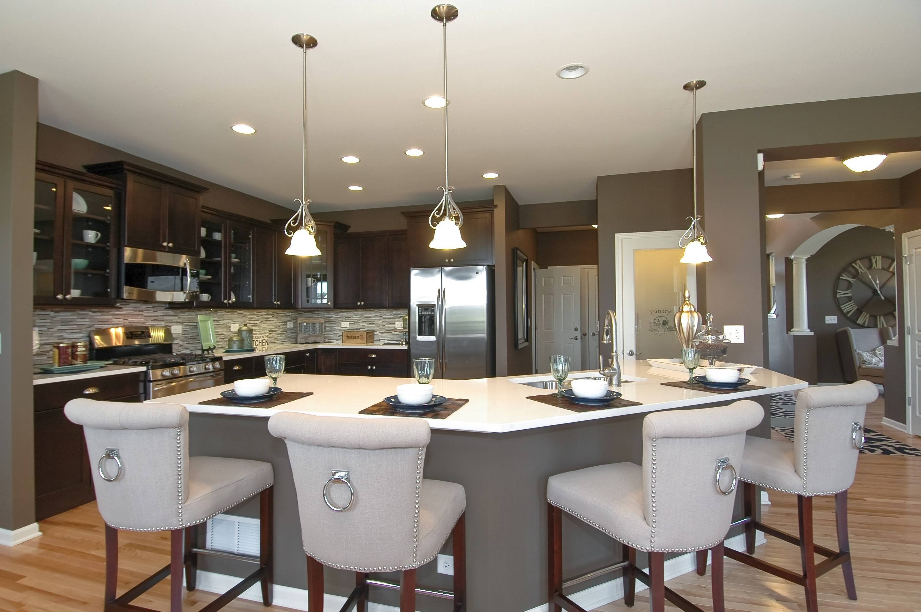 In The Saratoga Model Home At Lions Chase In Huntley Drhorton Mesmerizing Kitchen Model Design Design Decoration