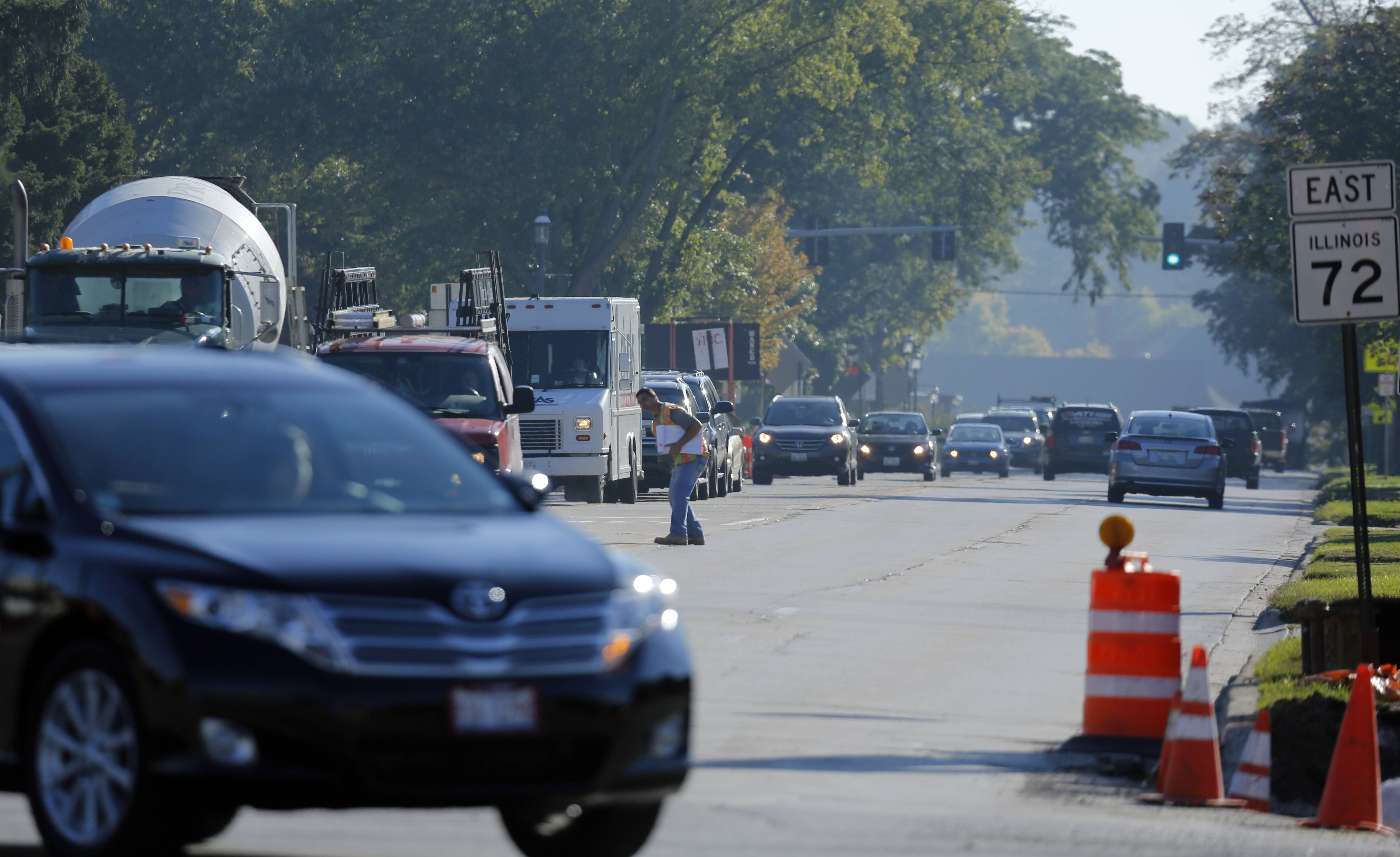 Spring brings warmer weather -- and the resumption of a construction project along routes 31 and 72 in West Dundee.