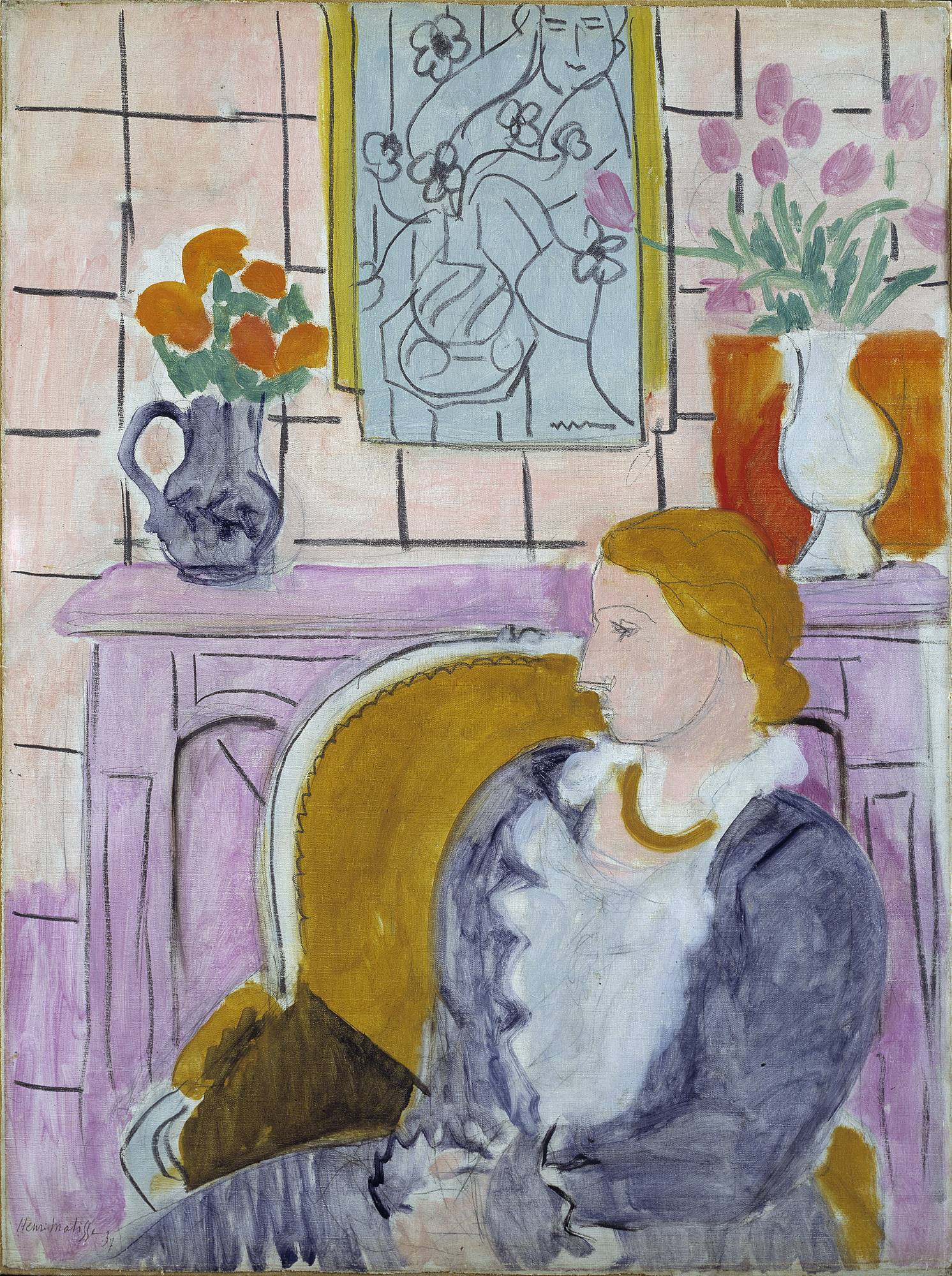 "A Norwegian museum says it has agreed to return a Matisse once looted by Hermann Goering to the family of Jewish art dealer Paul Rosenberg. The 1937 painting, ""Woman in Blue in Front of a Fireplace,"" has been the centerpiece of the Henie Onstad Art Center near Oslo since the museum was established in 1968 by shipping magnate Niels Onstad and his wife, Olympic figure-skating champion Sonja Henie."