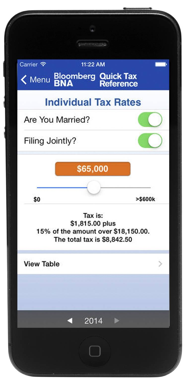 The Quick Tax Reference app puts a ton of tax information at your fingertips.