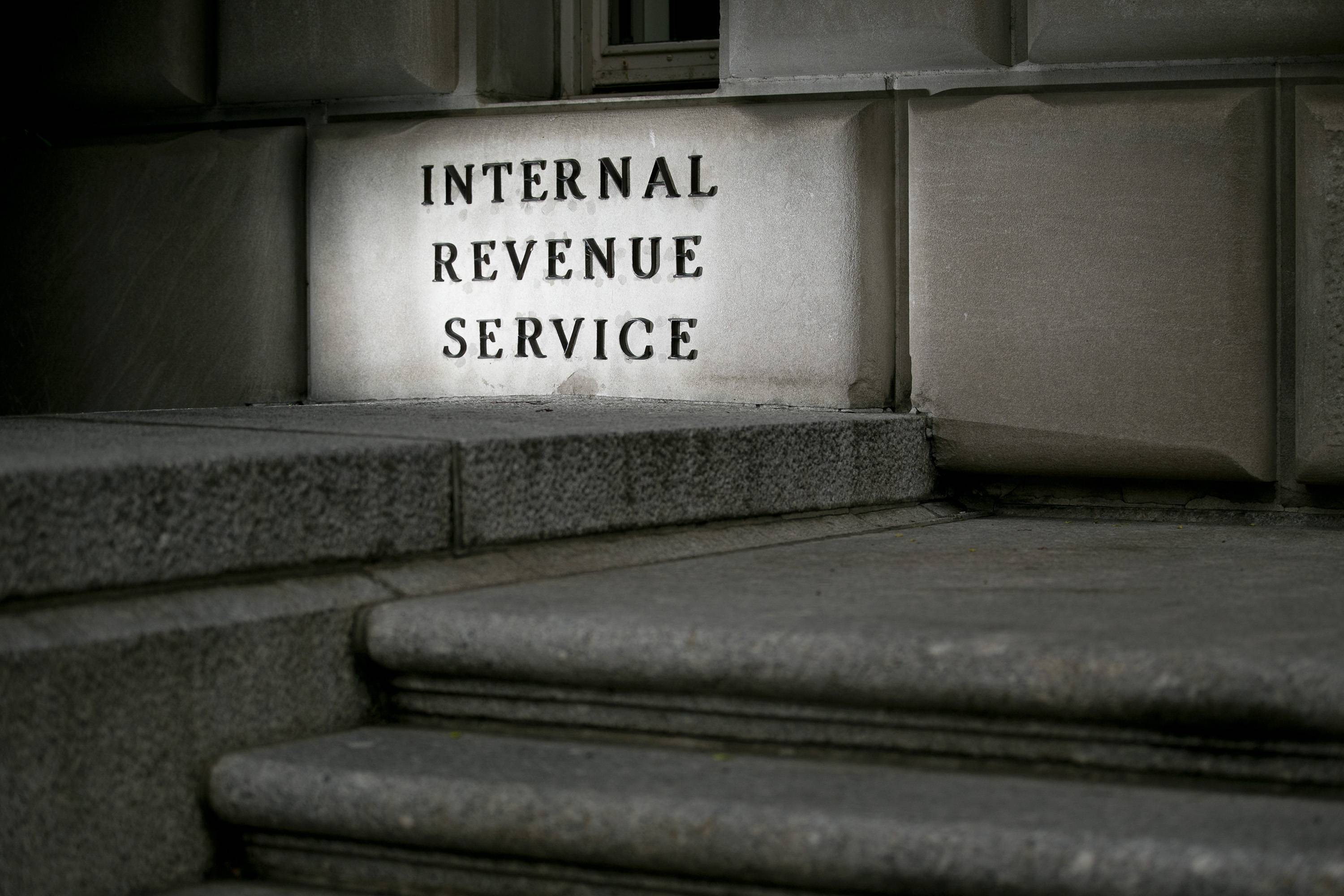 The Internal Revenue Service (IRS) headquarters stands in Washington, D.C.