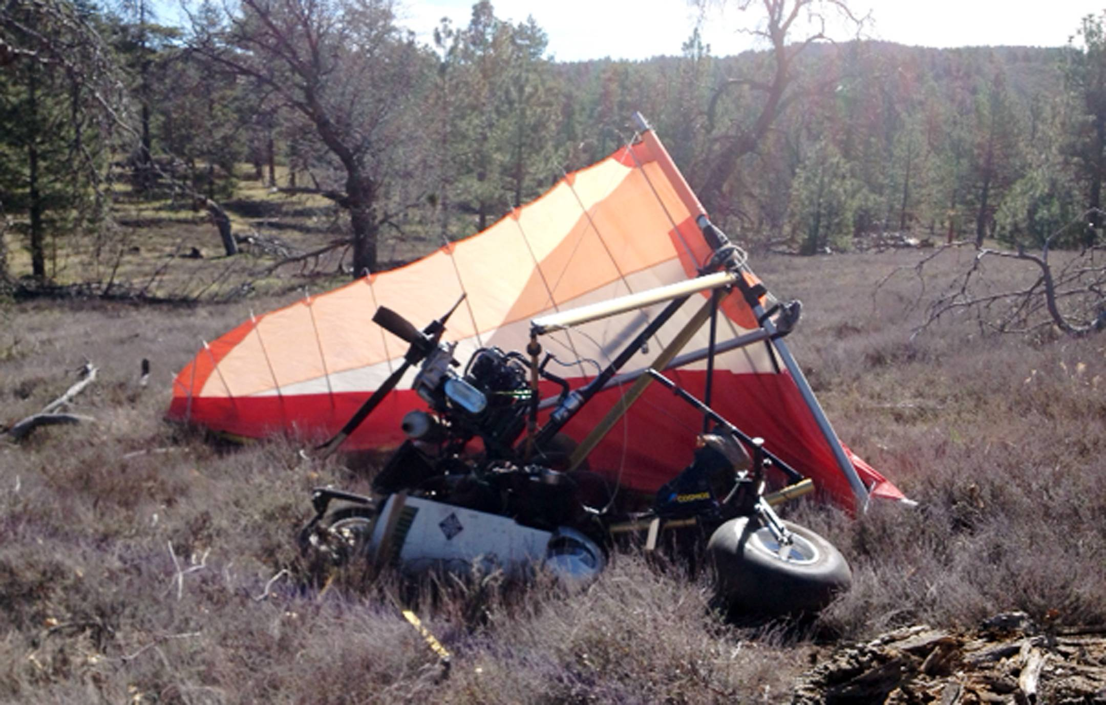 A crash site Friday where Federal authorities said an ultralight aircraft carrying about 250 pounds of marijuana crashed in the mountains east of San Diego.
