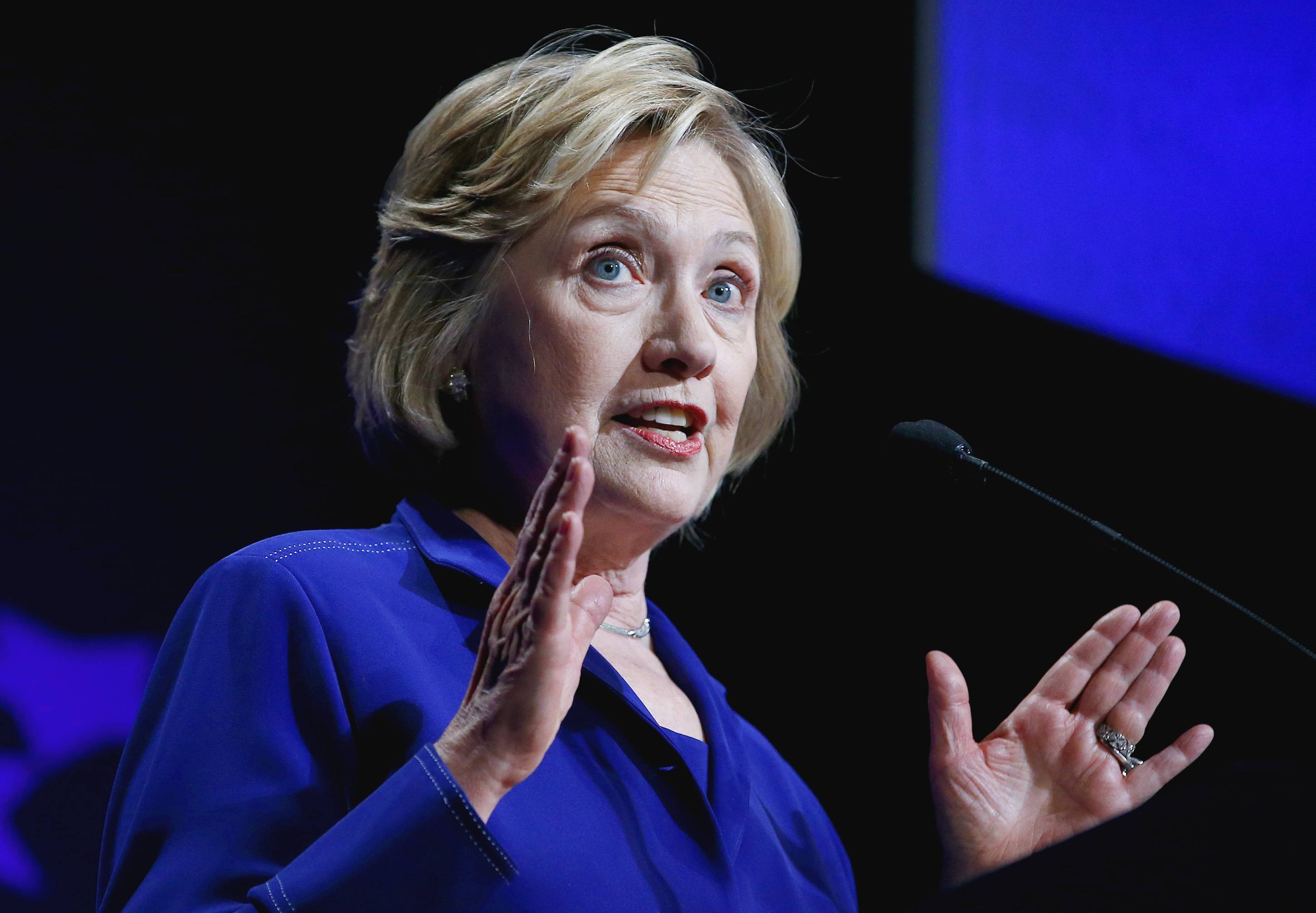 Former Secretary of State Hillary Rodham Clinton speaks Friday at a student conference for the Clinton Global Initiative University at Arizona State University.