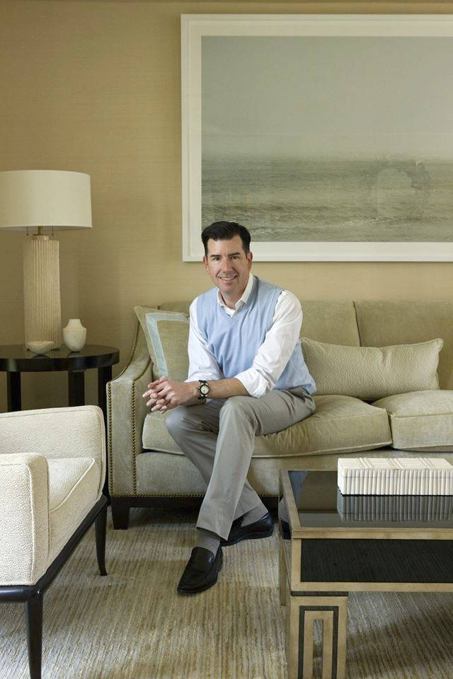 Interior designer Michael Hampton says there are many outdoor fabrics perfect to upholster furniture for a beach home.