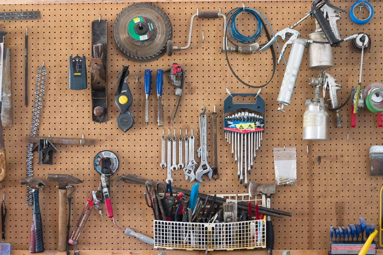 A neat workshop is a safer workshop. Pay attention to where tools are kept and keep cords manageable.