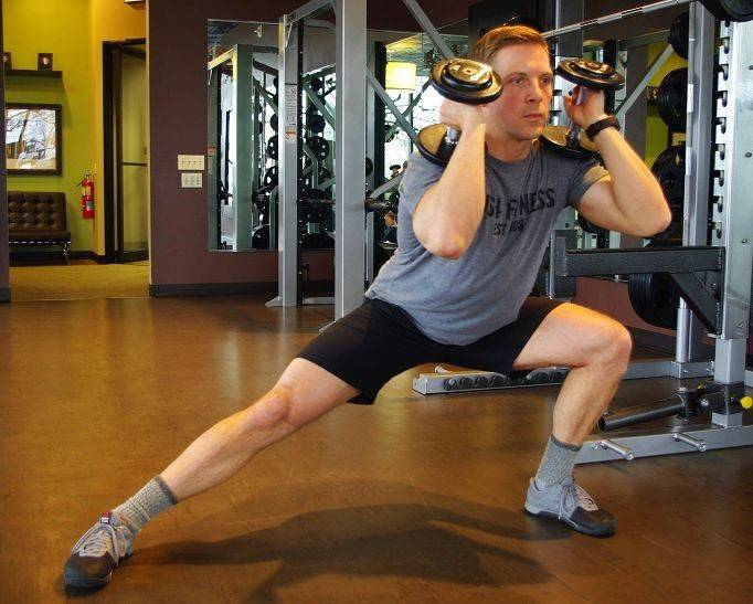 A lateral movement adds a new dynamic that will stress muscles differently than a traditional lunge.