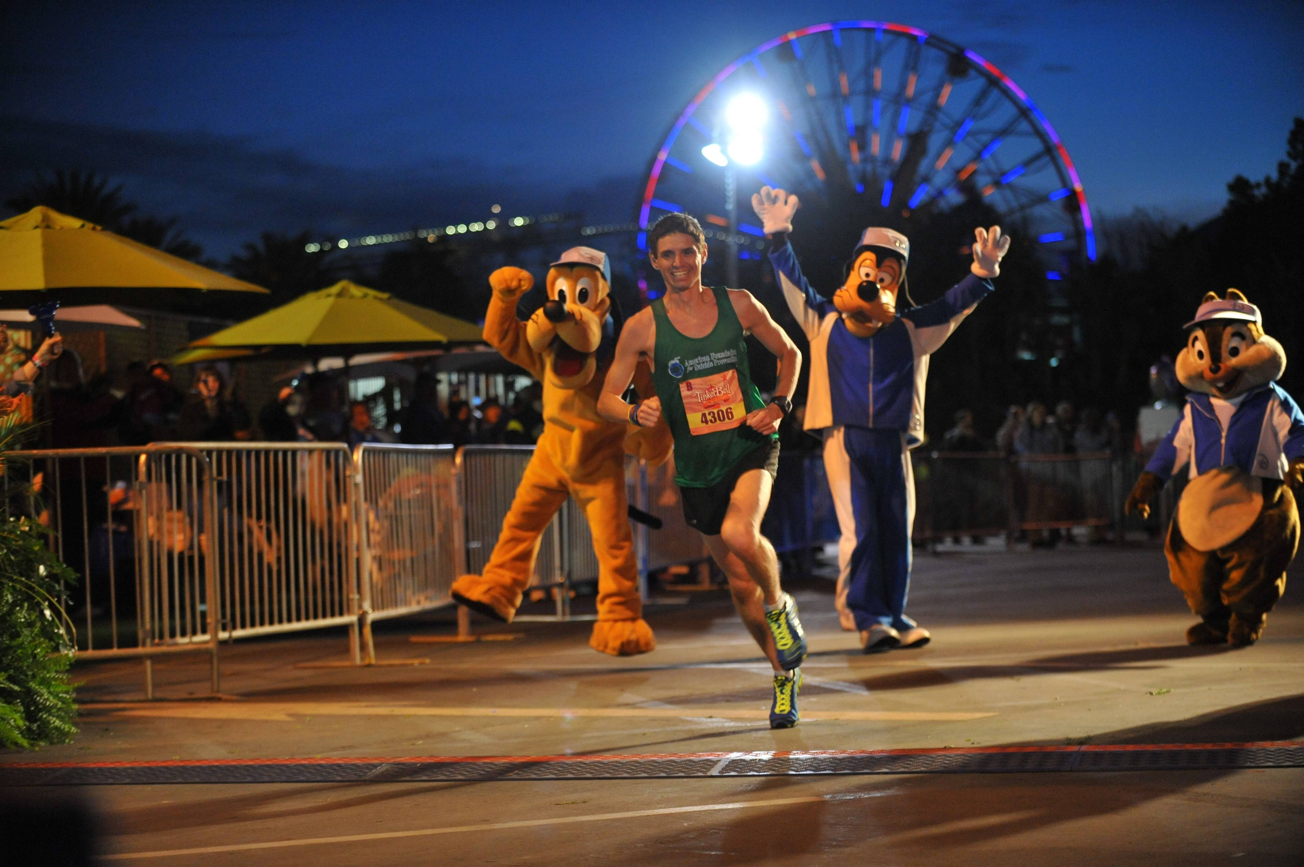 Andrew O'Bannon of Lake Forest, Calif., was the male winner of the third annual Tinkerbell Half Marathon at Disneyland Resort on Jan. 19 in Anaheim, Calif.