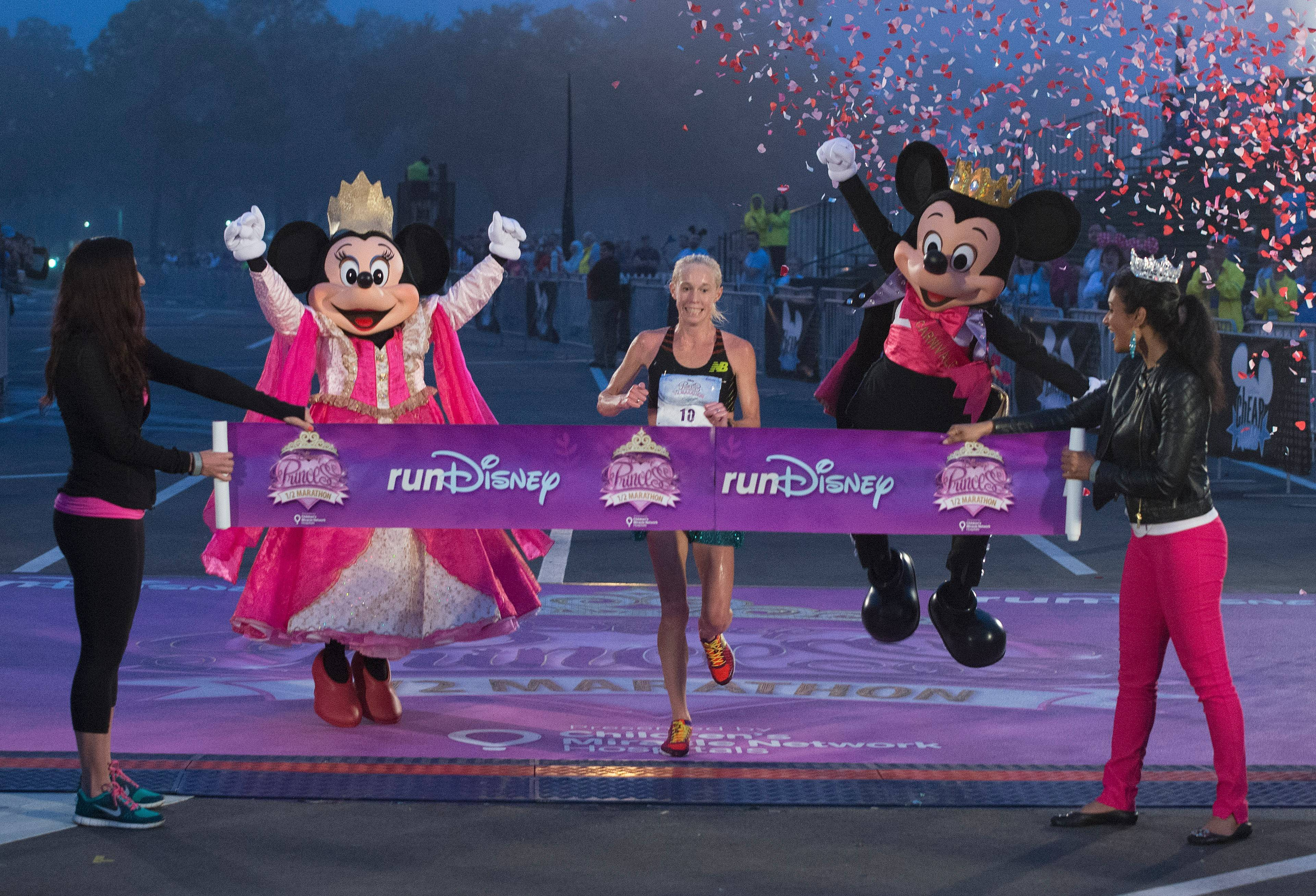 Three-time Olympian Kim Smith, 32, of Providence, R.I., broke the Disney Princess Half Marathon record with a time of 1 hour, 11 minutes and 49 seconds on Feb. 23 at Walt Disney World in Lake Buena Vista, Fla.