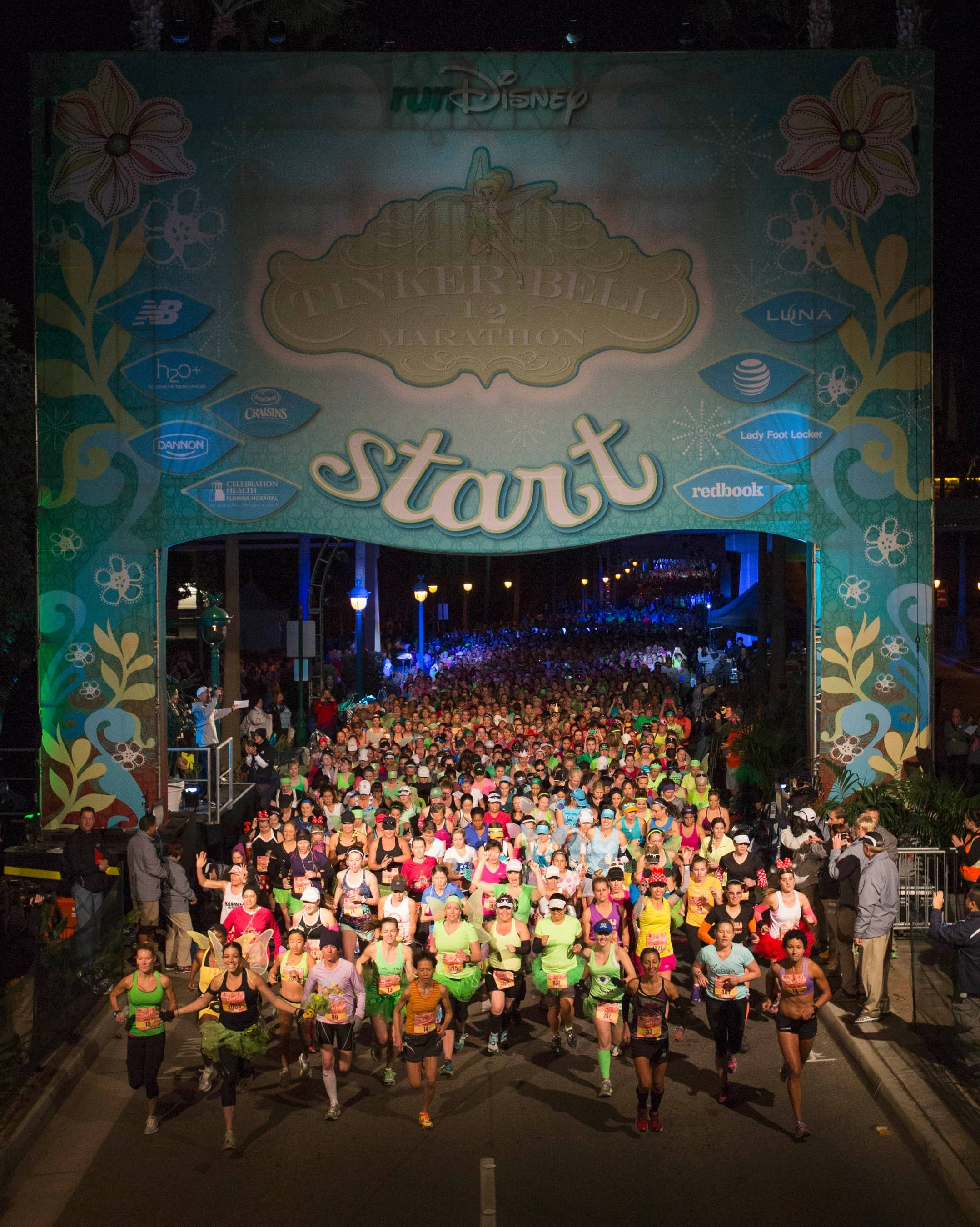 January's 2014 Tinkerbell Half Marathon kicks off at Disneyland Resort in Anaheim, Calif.