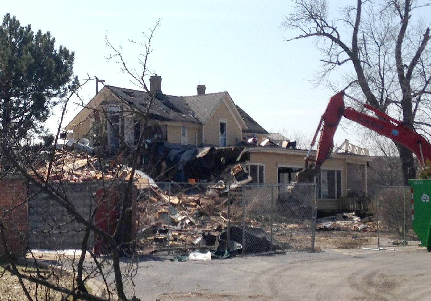 Demolition of Don Roth's Blackhawk restaurant in Wheeling began Friday. It closed in 2009 after a 40-year run as part of the village's Restaurant Row.