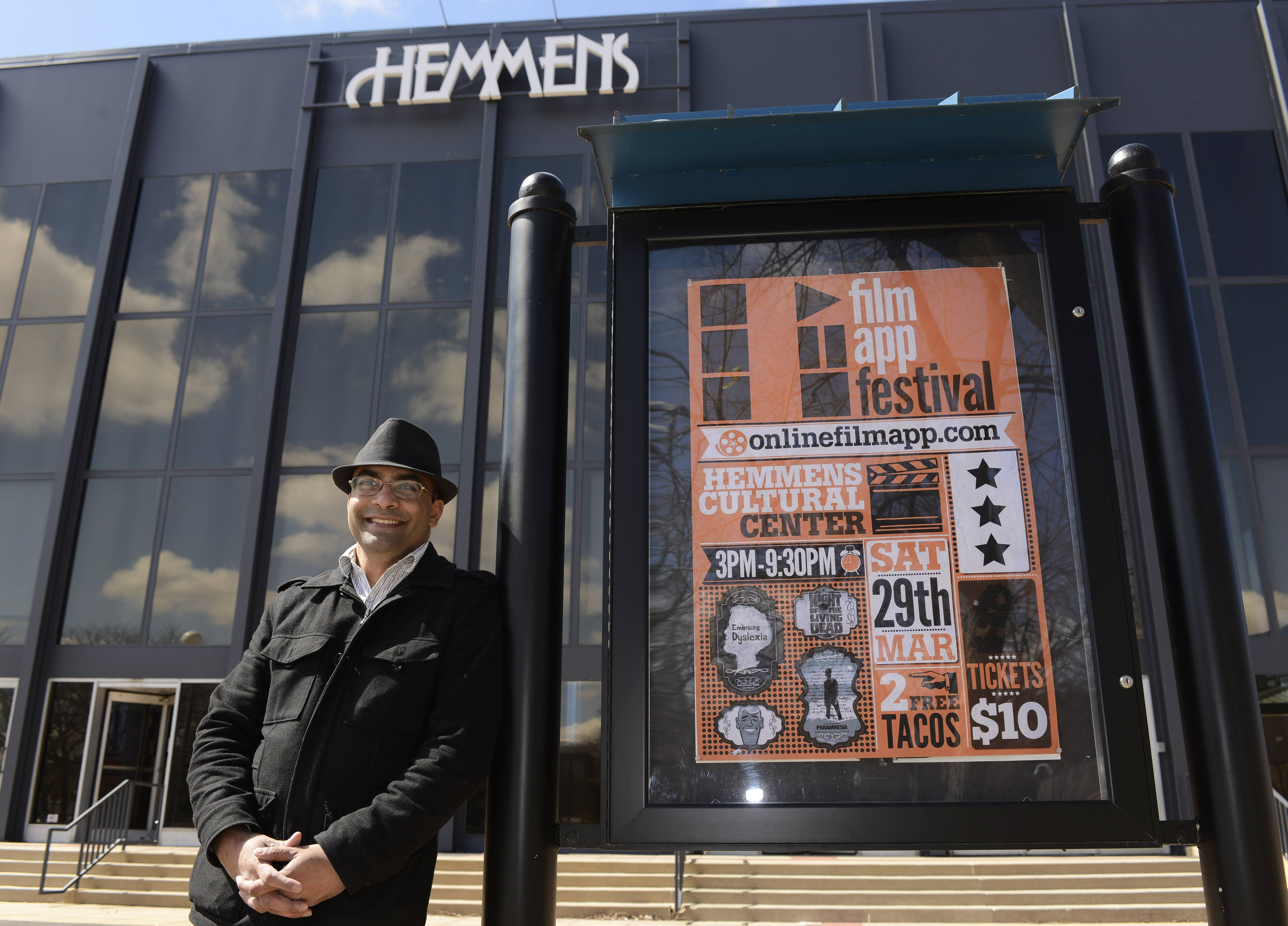 Elgin resident Milan Shah is the brains behind the Film App Festival debuting Saturday, March 29 at the Hemmens Cultural Center.