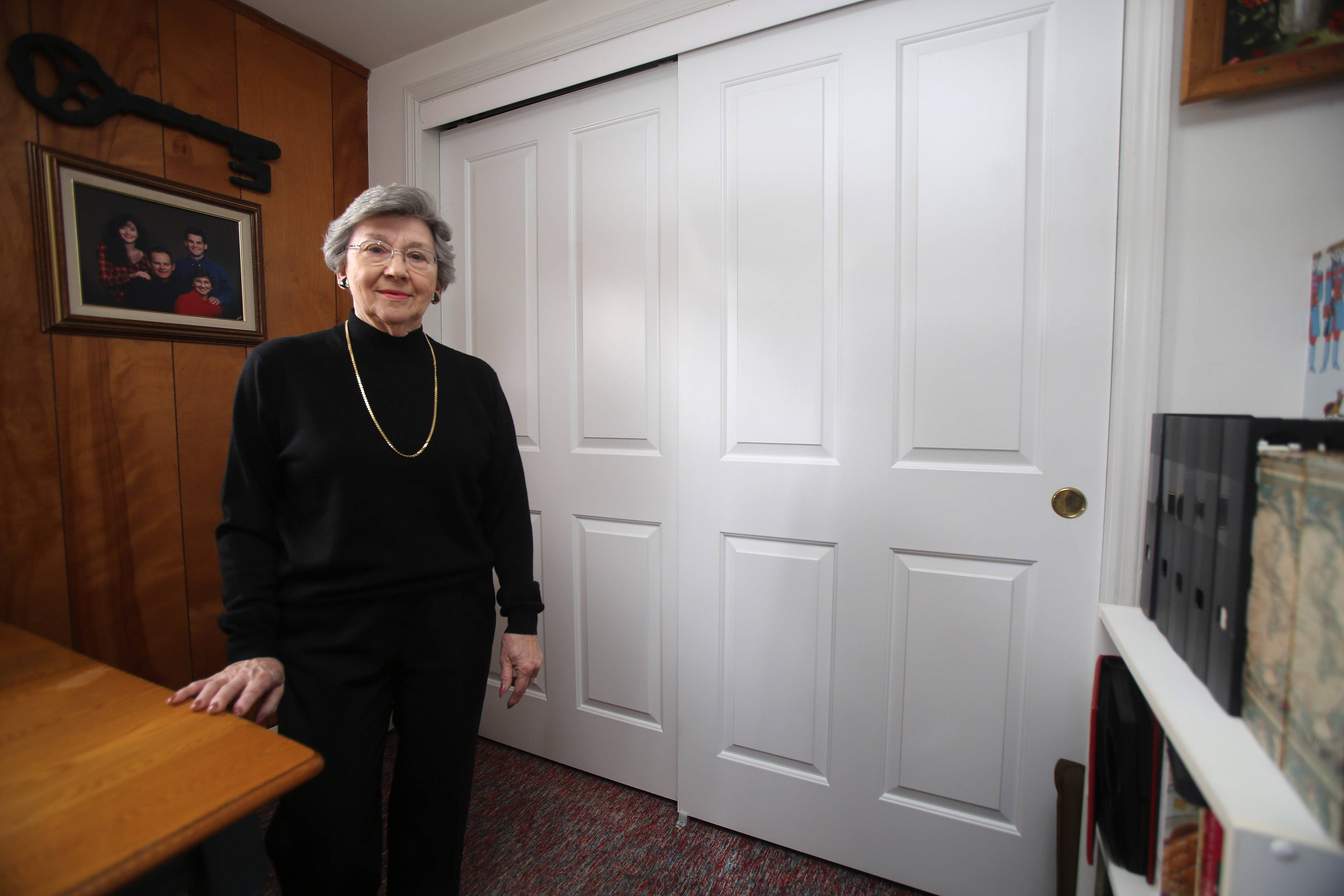Nancy Rinker's 1972-era basement got an updated look with new doors from HomeStorey Chicago.