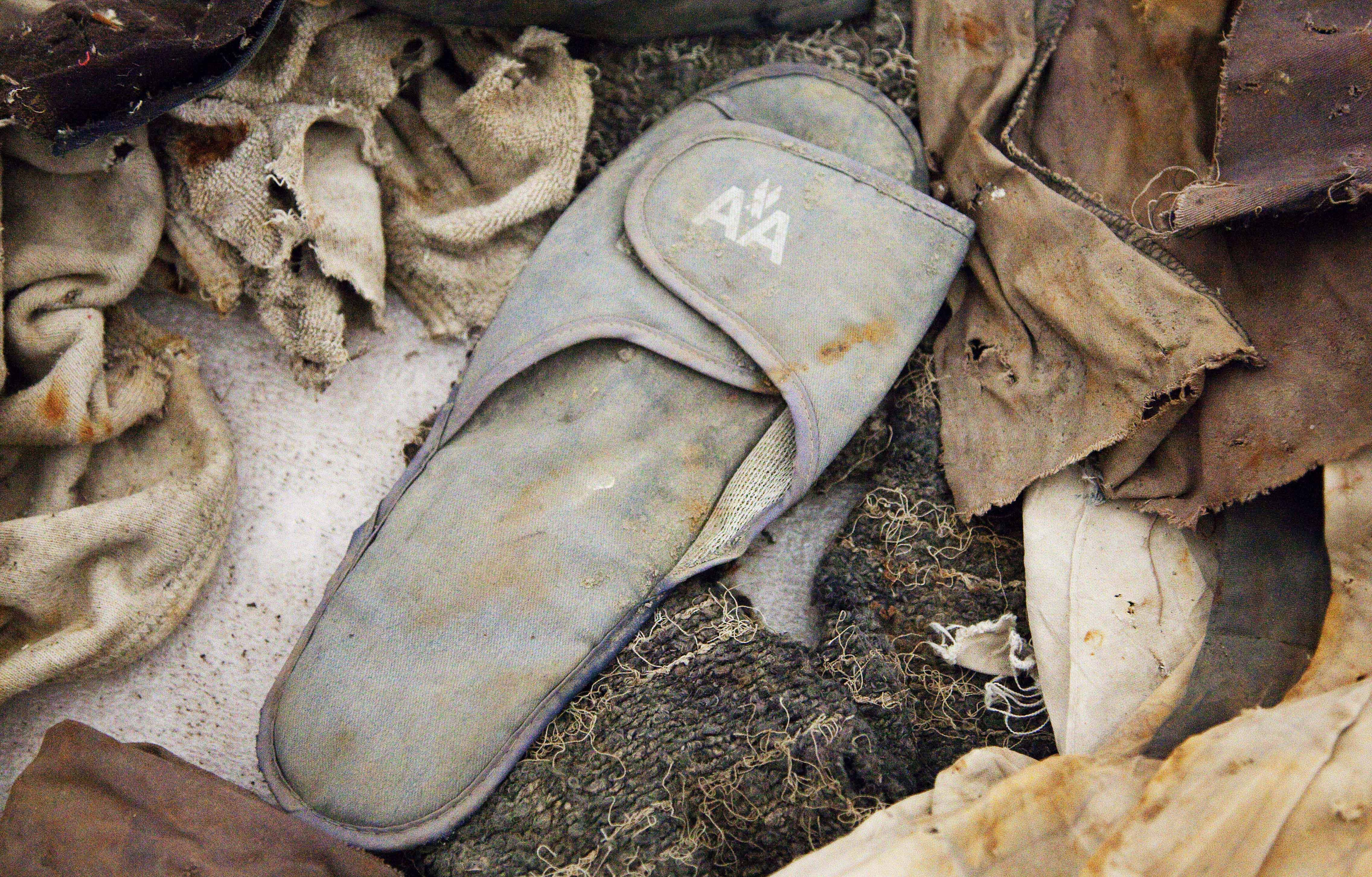 An American Airlines slipper is an artifact from the September 11, 2001, attacks that is to be part of the National September 11 Museum.