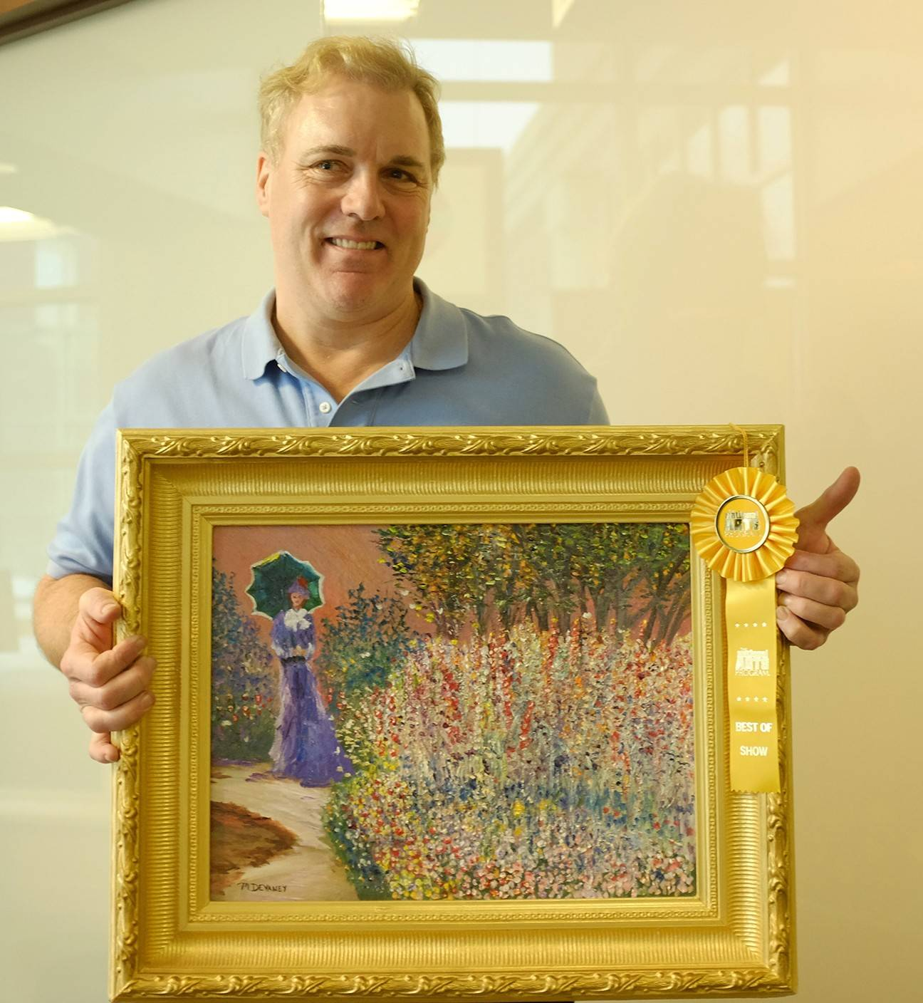 "Michael Devaney's ""Flower Garden"" recently won Best of Show during Adventist Midwest Health's second annual National Arts Program Healing Arts Exhibit."