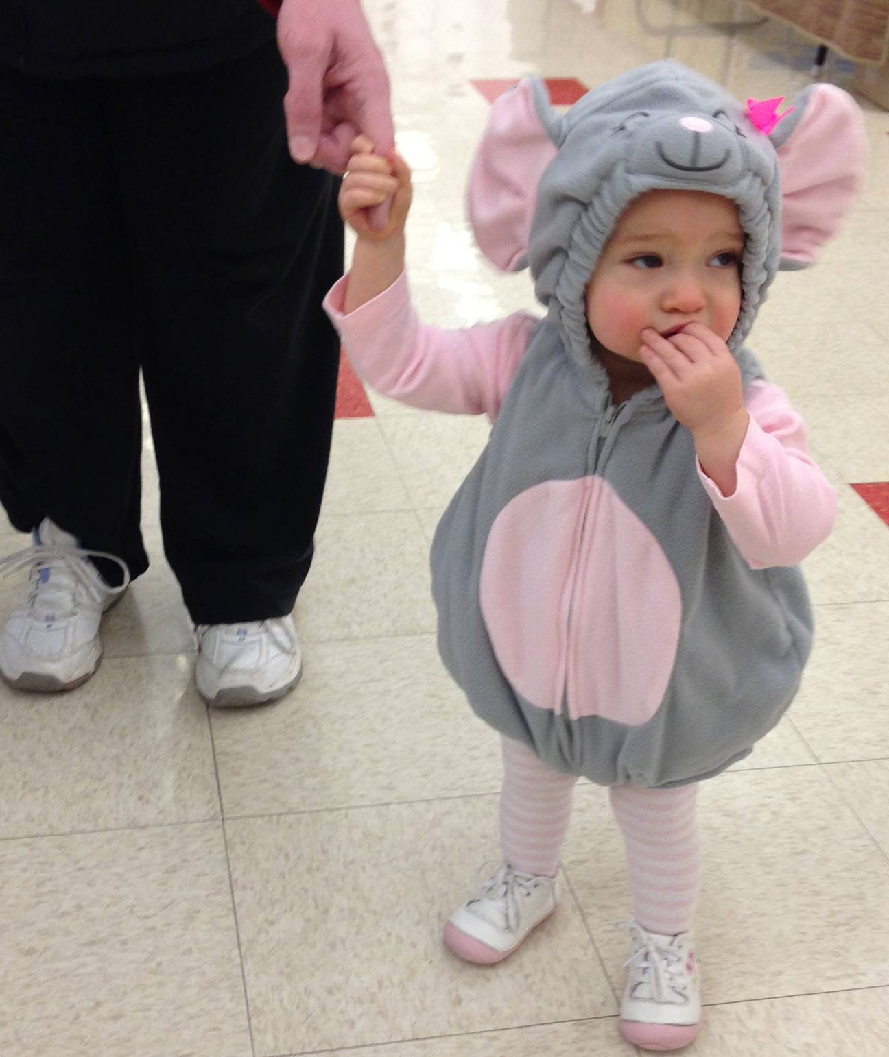 one of the school's smallest student, joining the Fasching party.Jean Latz Griffin