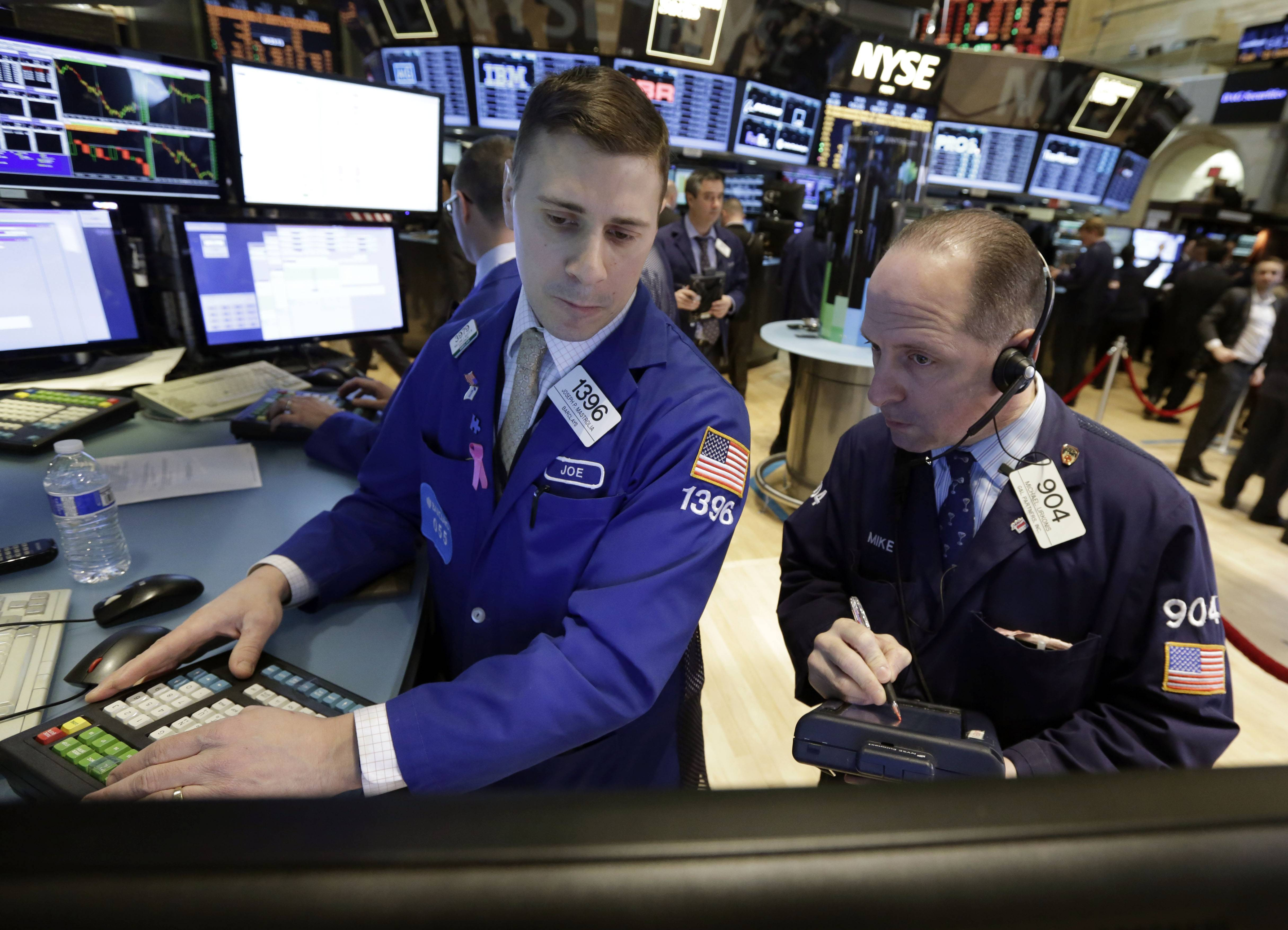 Stocks on Tuesday advanced for the first time in three days as commodity and health-care shares rallied and economic data showed consumer confidence at a six-year high.