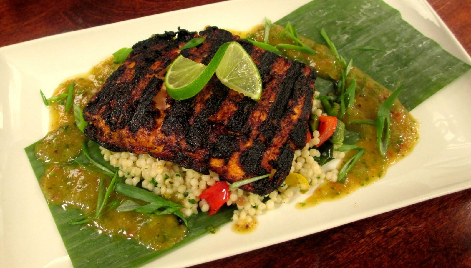 Try the grilled Caribbean arctic char for dinner as part of Weber Grill's meatless menu available through April 17.