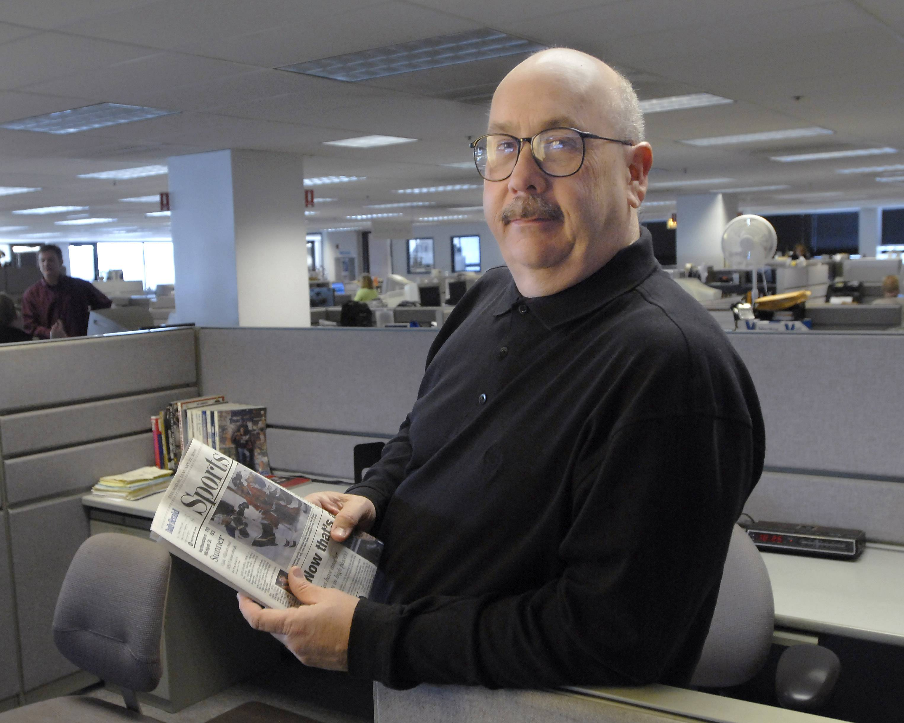 Tim Sassone, the Daily Herald's longtime Blackhawks beat writer, died Tuesday.