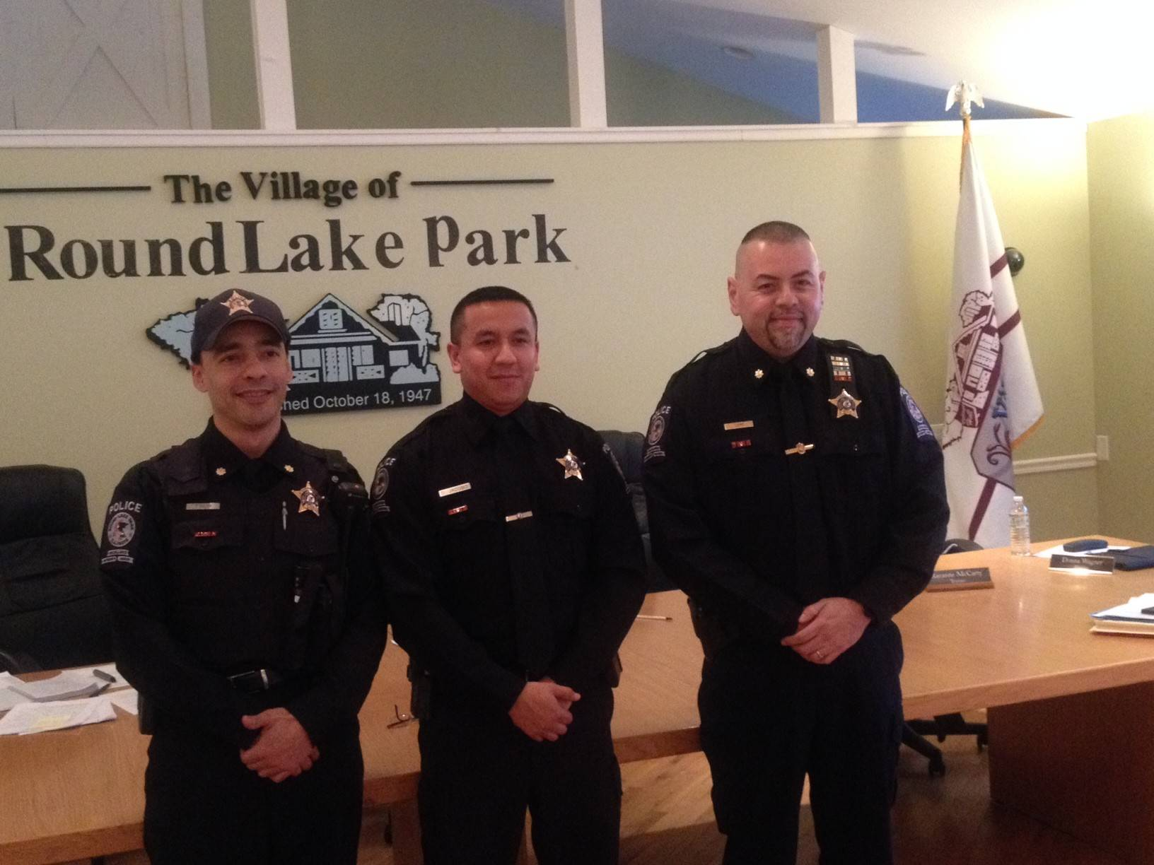 Cmdr. Tony Colon, left, Detective Jose Jacobo and Cmdr. Hector Lepe received Exceptional Duty medals for their work at the Round Lake Park Police Department.