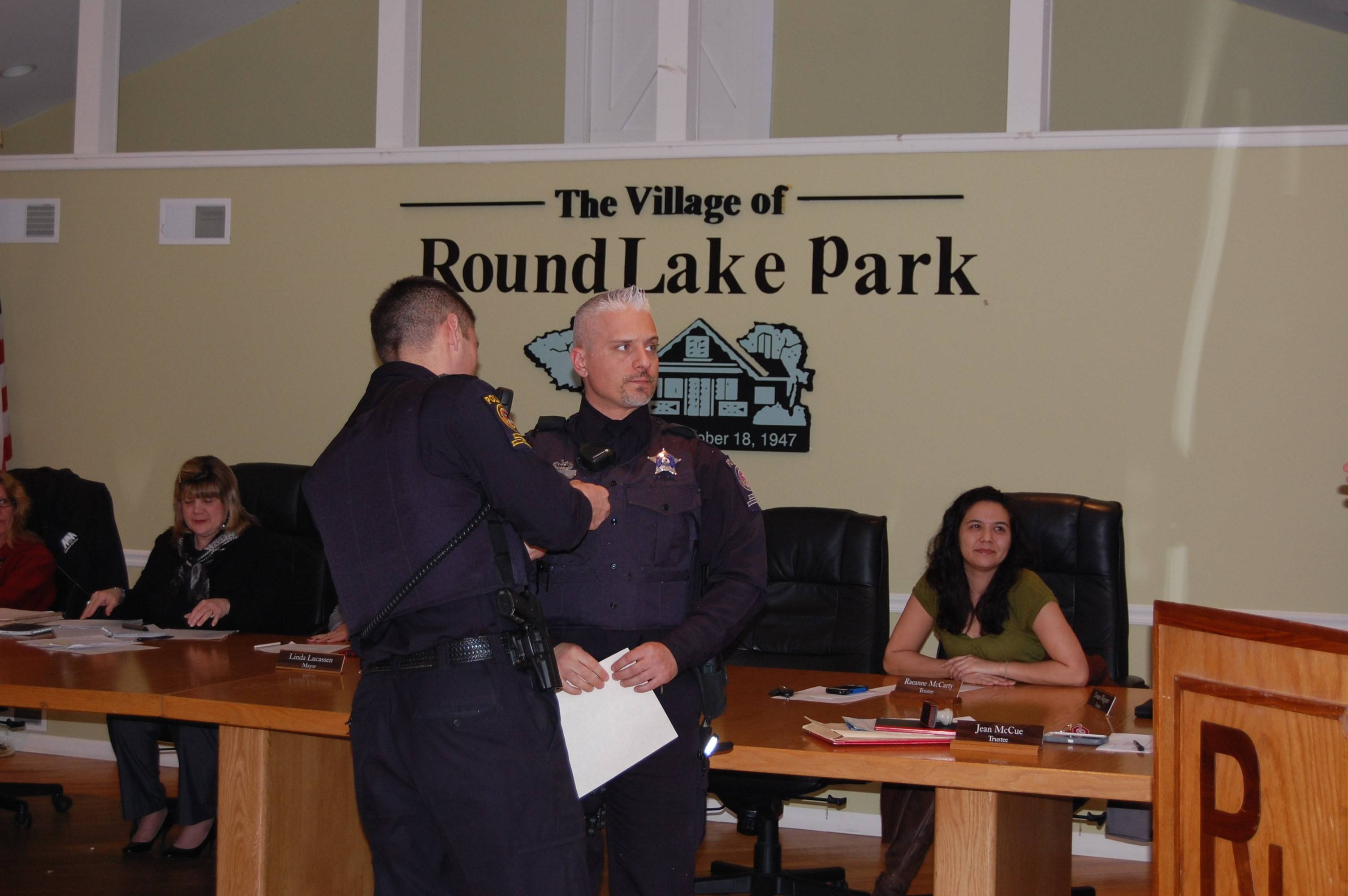 Round Lake Park officer Dominick Izzo received a Chief's Achievement Award.