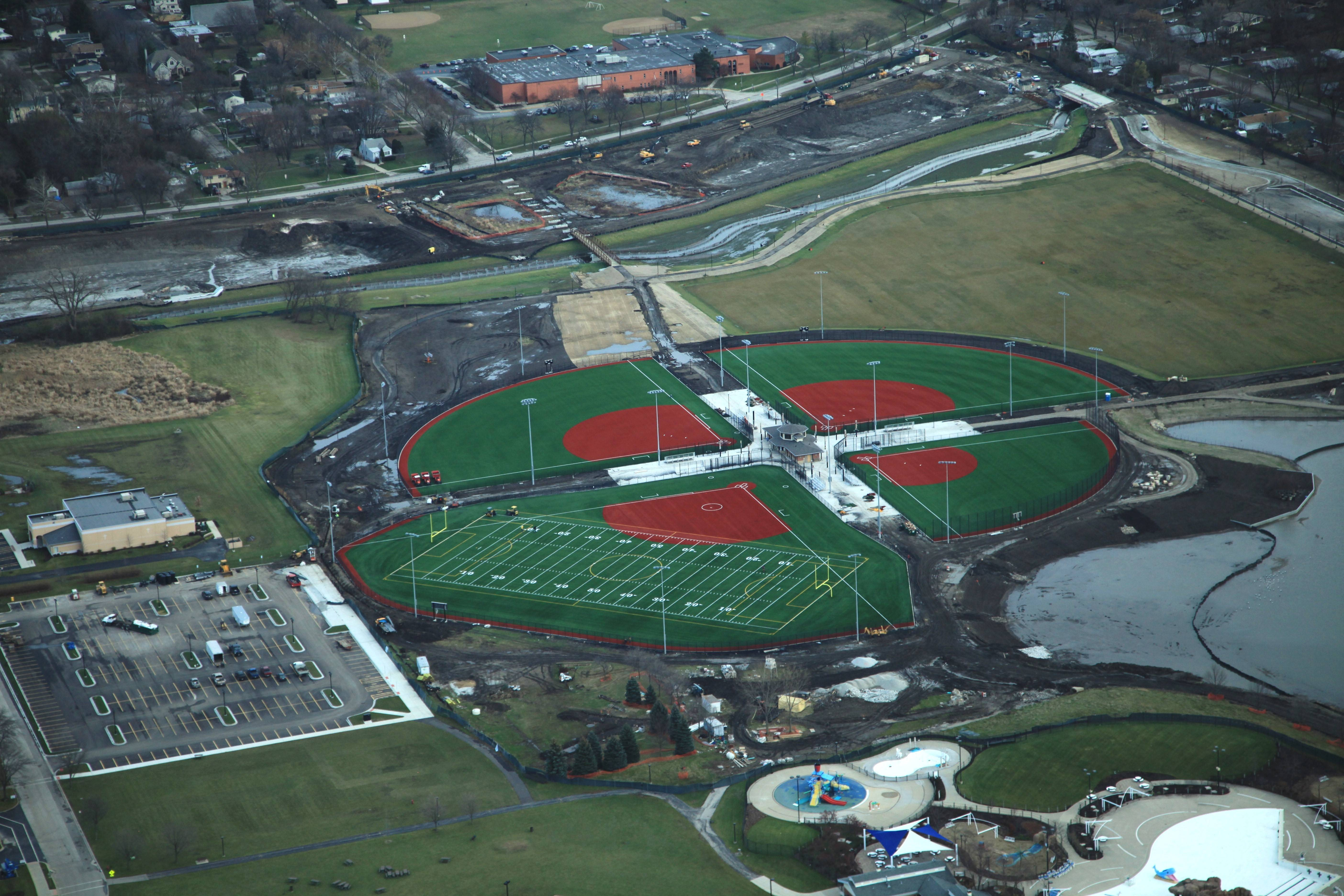 An adult softball tournament early next month will be among the first uses of the Wheeling Park District's new athletic complex in Heritage Park, built as part of a $38 million park renovation. The tourney will have to go on without beer sales, however. The Wheeling village board shot down a proposal this week to allow beer sales during the event.