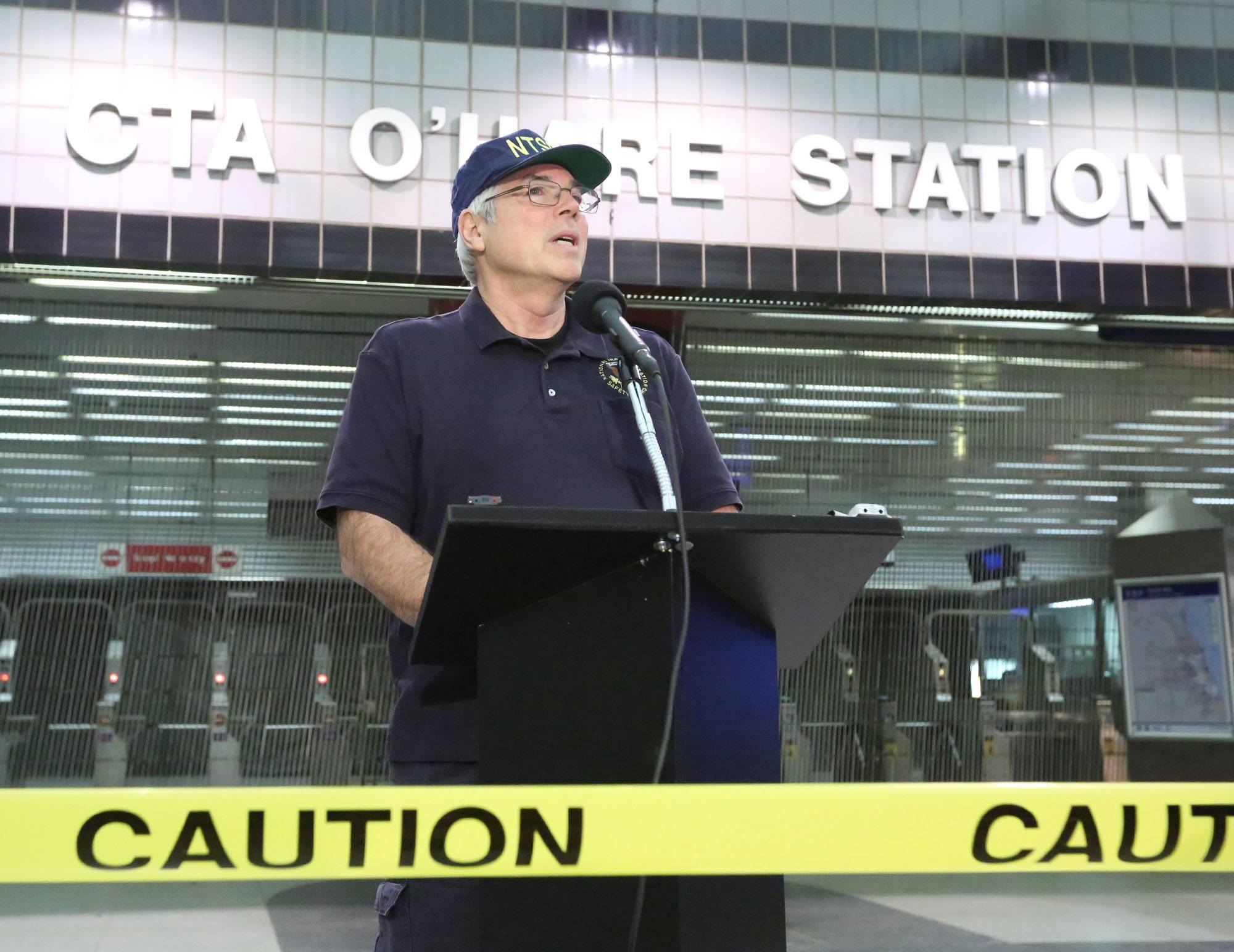National Transportation Safety Board investigator Ted Turpin said Tuesday that investigators still are analyzing the cause of a CTA crash at O'Hare that injured 32.