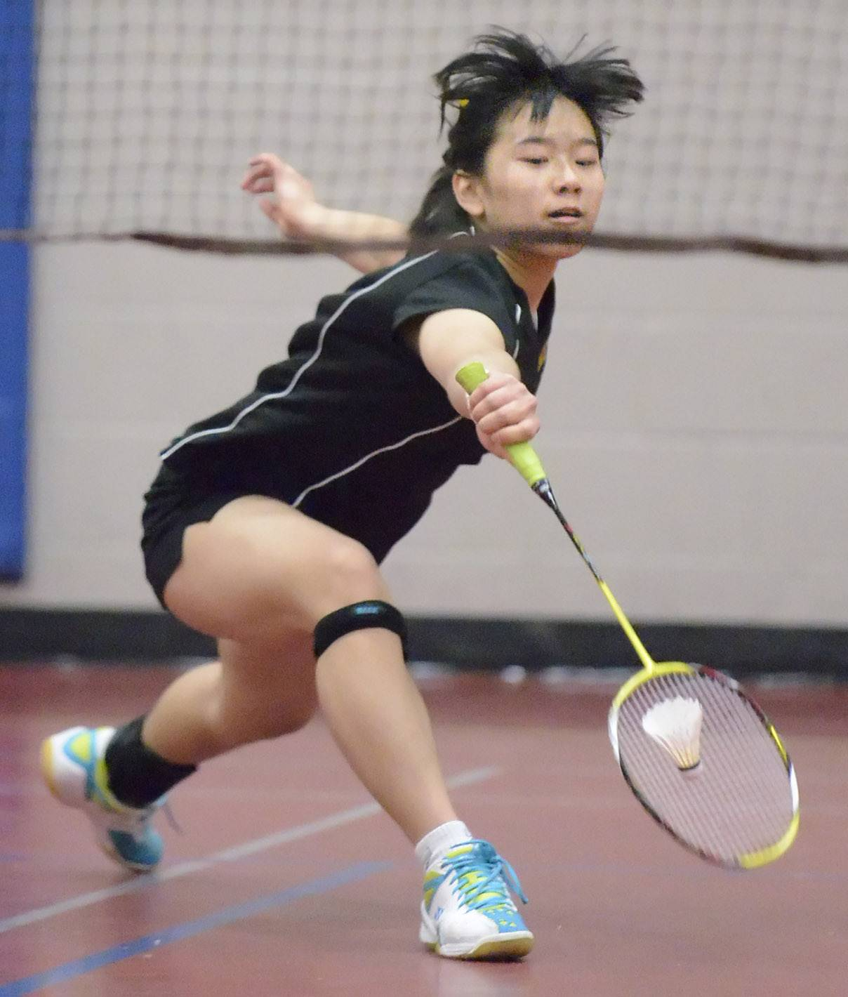 Metea Valley's Moriah Gau returns a serve from Geneva in the first singles match at West Aurora High School on Tuesday, March 25.