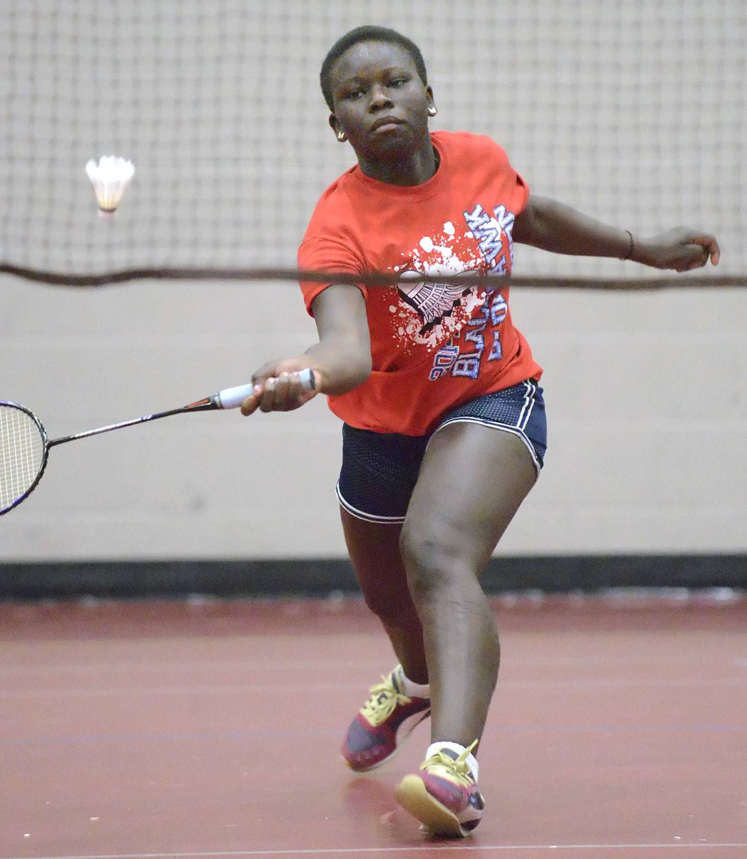 West Aurora's Christin Dumba in the second singles match vs. Metea Valley at West Aurora High School on Tuesday, March 25.
