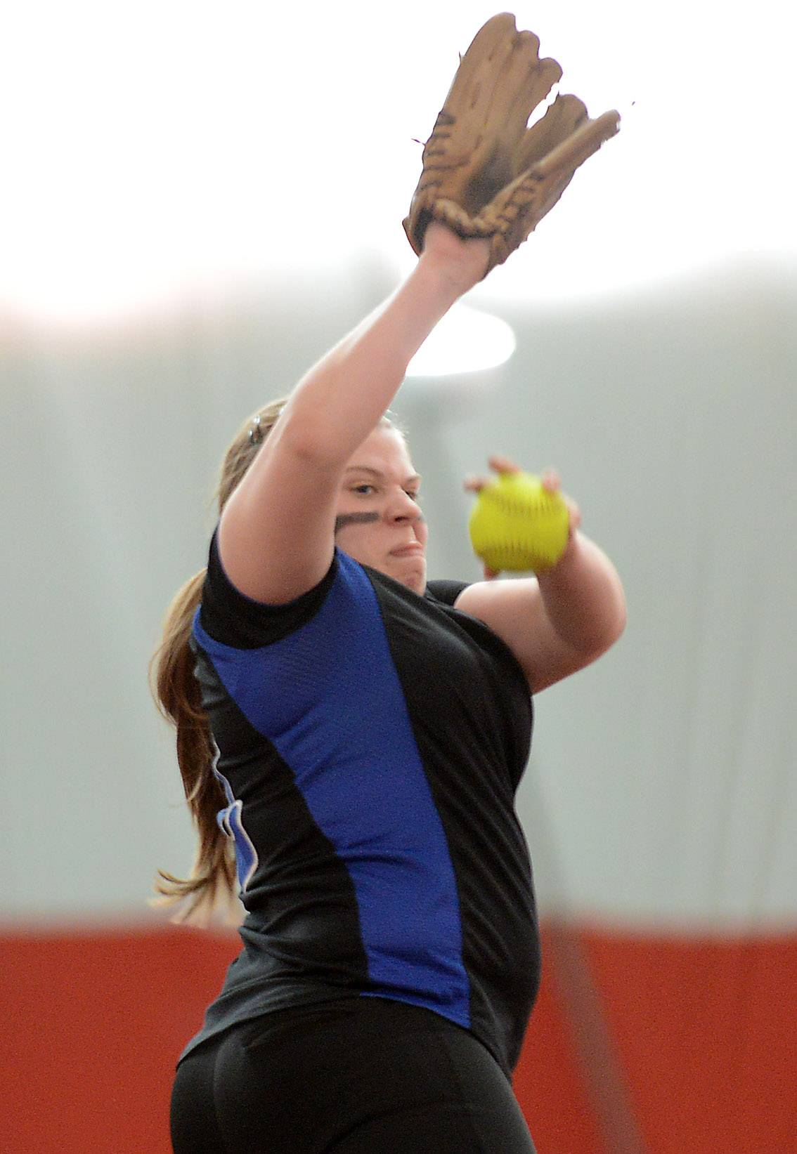 Lake Zurich's Olivia Schneider delivers a pitch during softball action Tuesday in Rosemont.