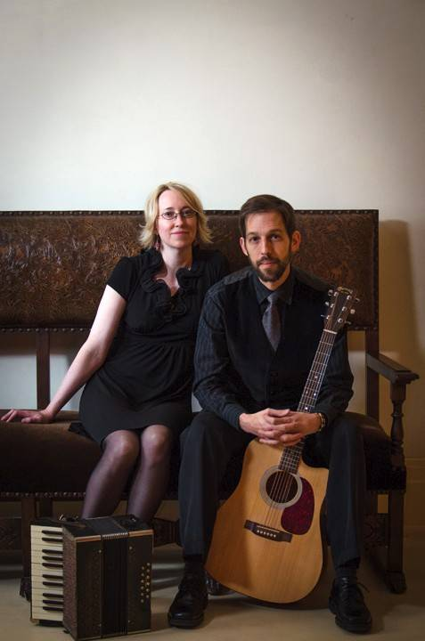 The Kansas duo Delores & the Pickin'-Fretter, with Jenny Stover-Brown and Jeffrey Faus, will perform at the next Highland Avenue Coffeehouse on Saturday, April 5.