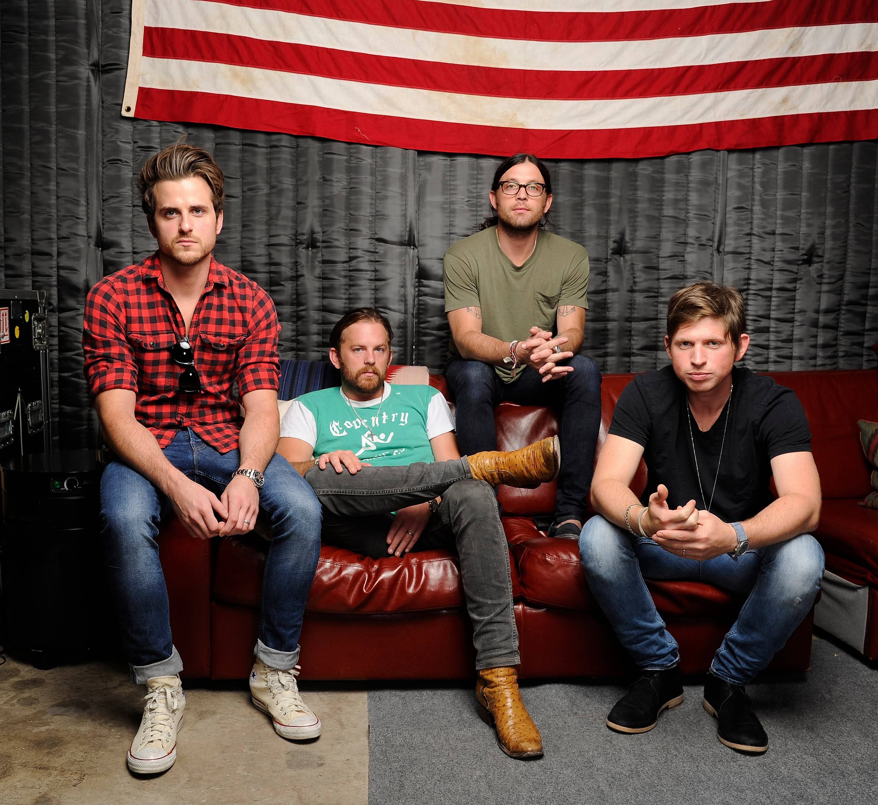 King of Leon — Jared Followill, left, Caleb Followill, Nathan Followill and Matthew Followill — will head to Chicago this summer for Lollapalooza.