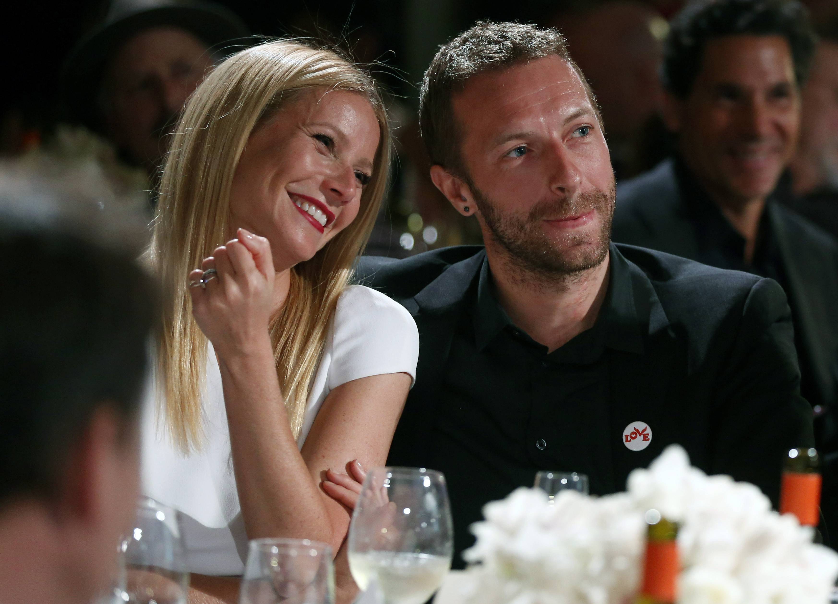 Actress Gwyneth Paltrow, left, and her husband, singer Chris Martin, announced that they are separating.