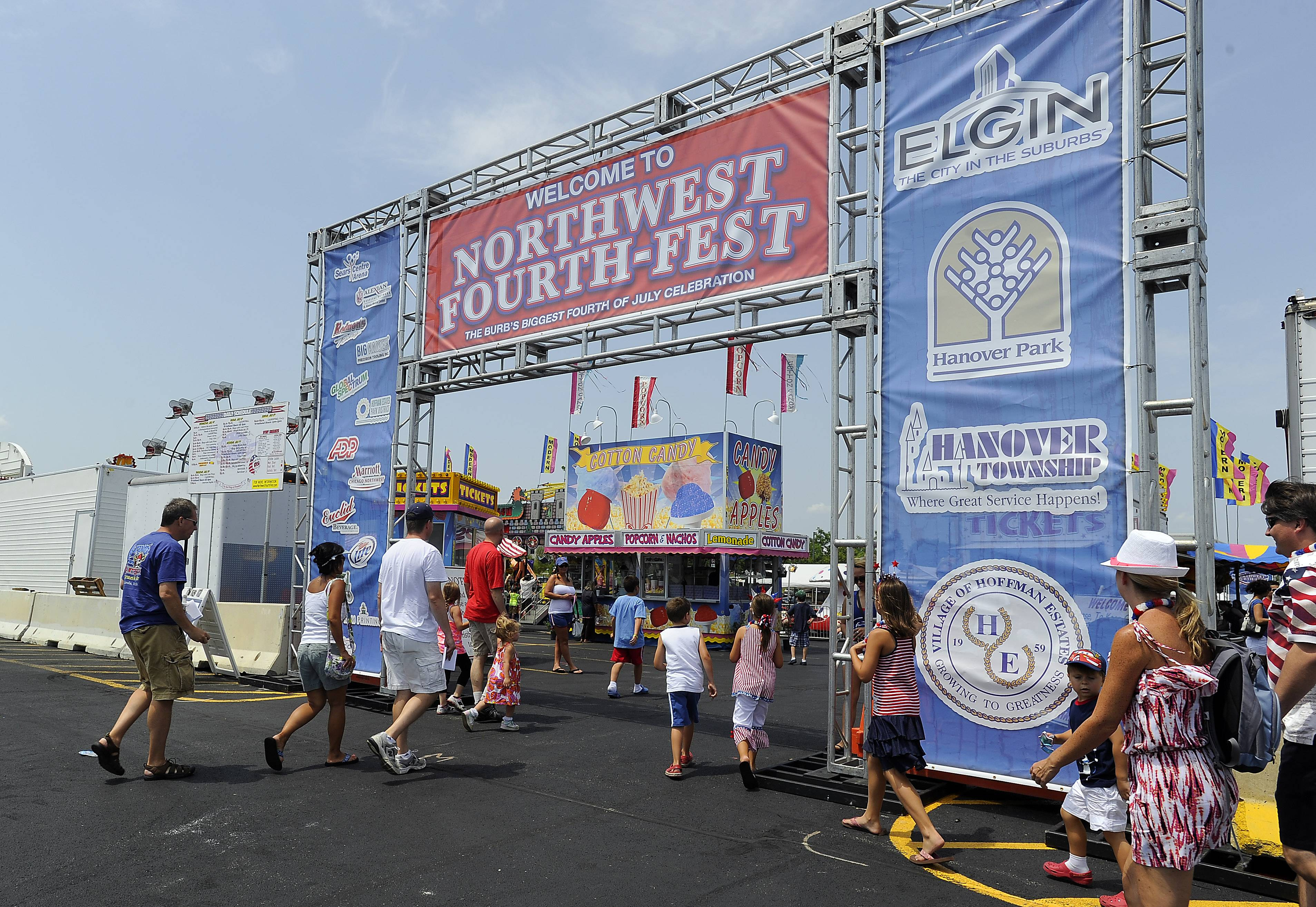 The Hoffman Estates Park District has stepped up as a co-sponsor of the four-day Northwest Fourth Fest at the Sears Centre Arena in Hoffman Estates this July, after Elgin and Hanover Park withdrew their involvement earlier this year. The district will contribute $5,000 cash and $2,000 in labor.