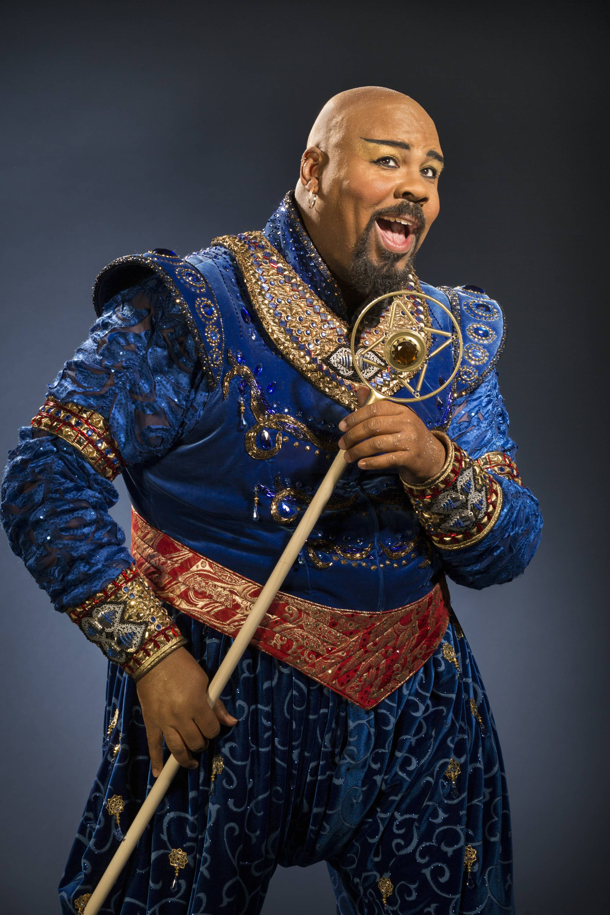 "Though he claims Robin Williams as an idol, James Monroe Iglehart is putting his own spin on the role of the Genie in the new Broadway musical ""Aladdin."""