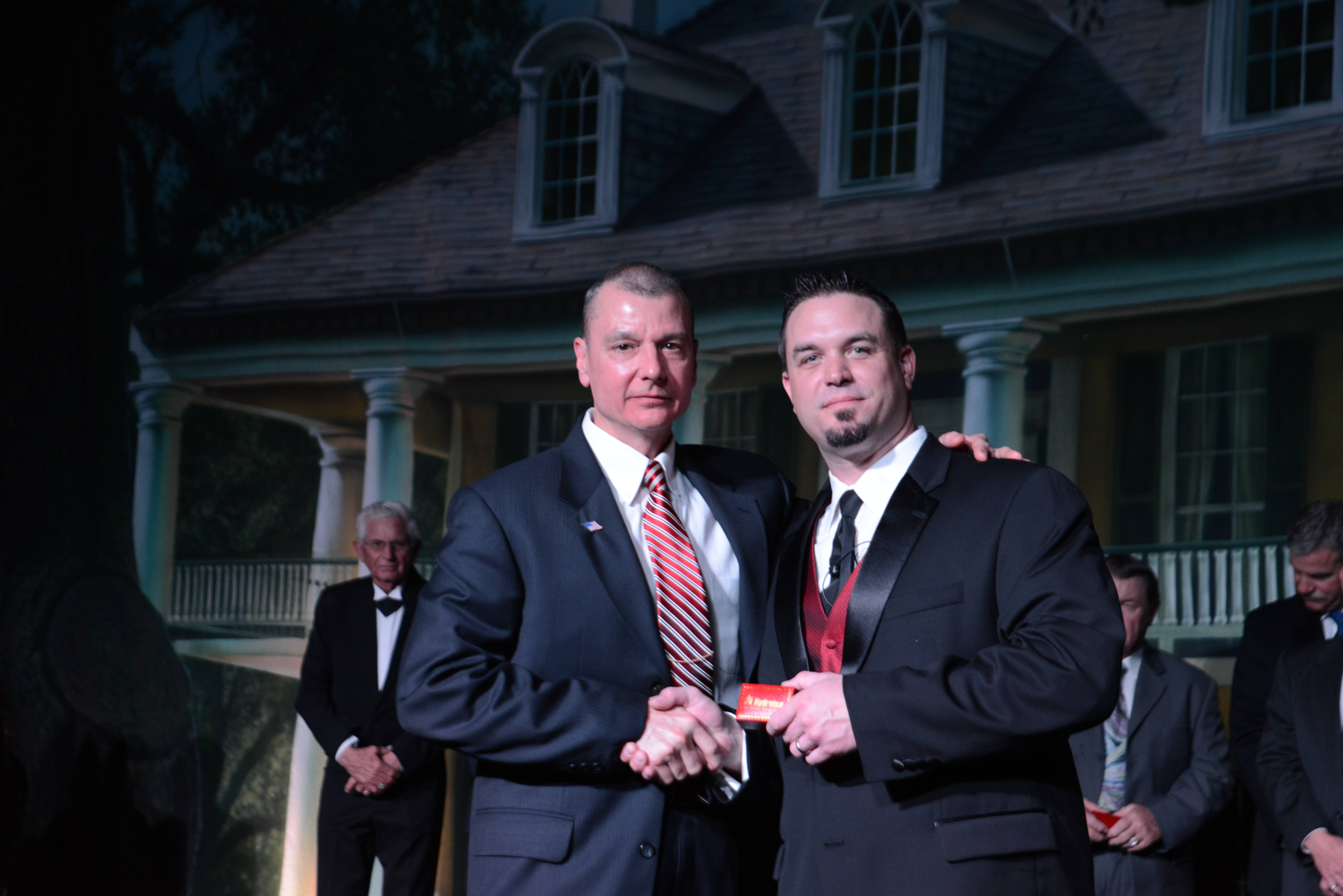 Photo taken at Hydrotex Awards Night in Dallas, Texas (Joe Stetina, pictured left)
