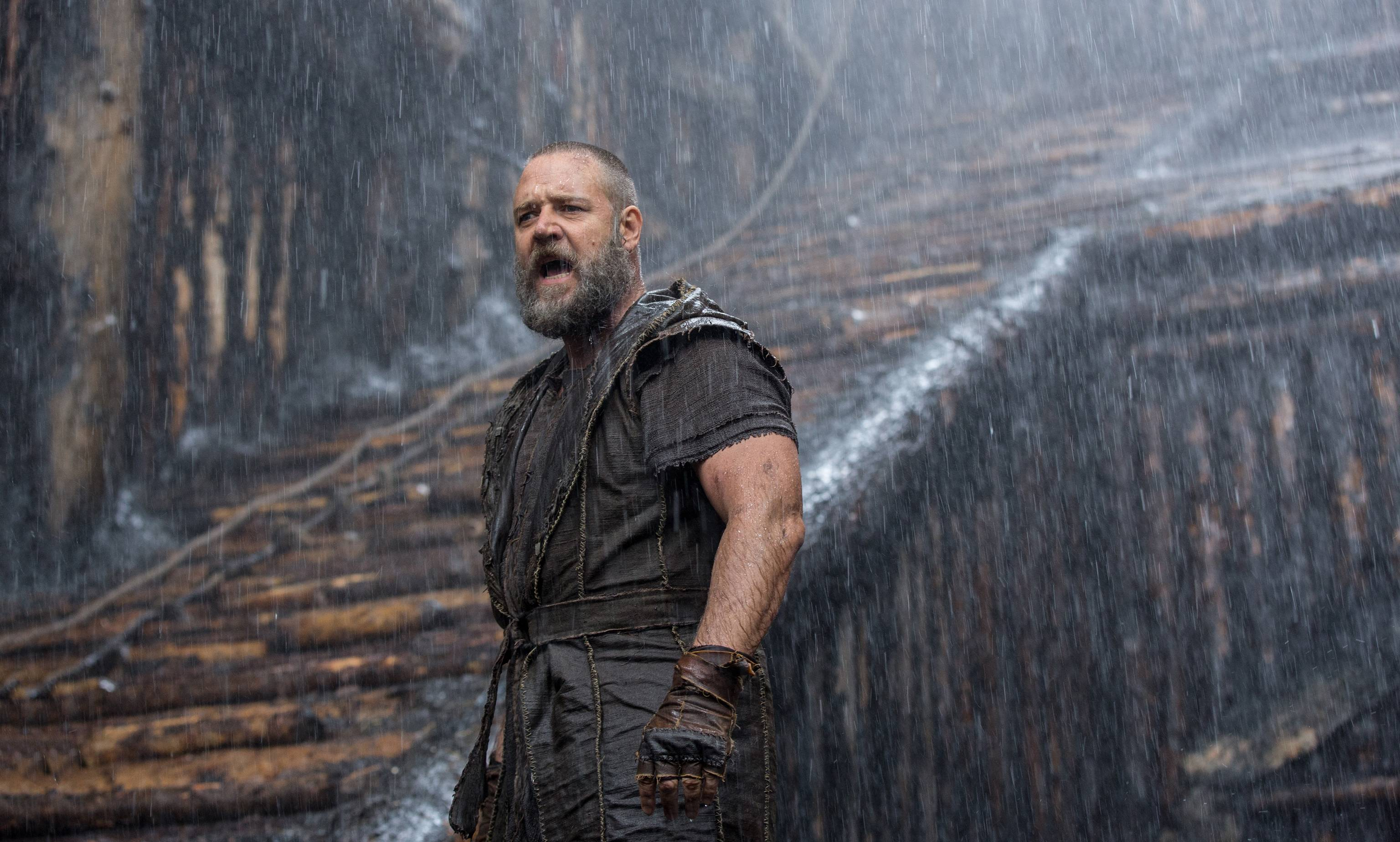 "Noah (Russell Crowe) faces the floods in Darren Aronofsky's astonishing ""Noah."""