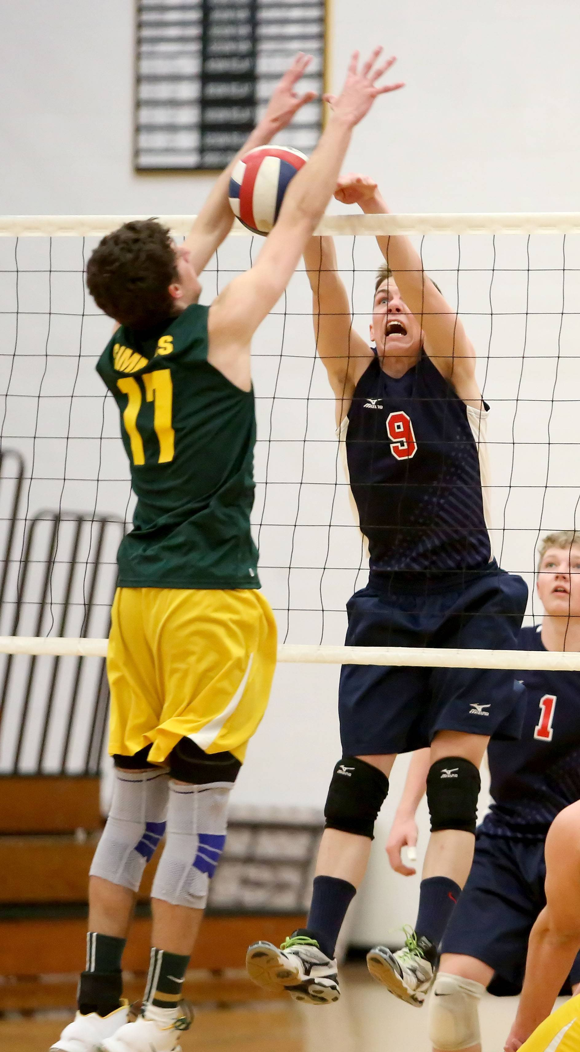Adam Fitzgerald, right, is one of a number of sophomores playing a key role at West Aurora.