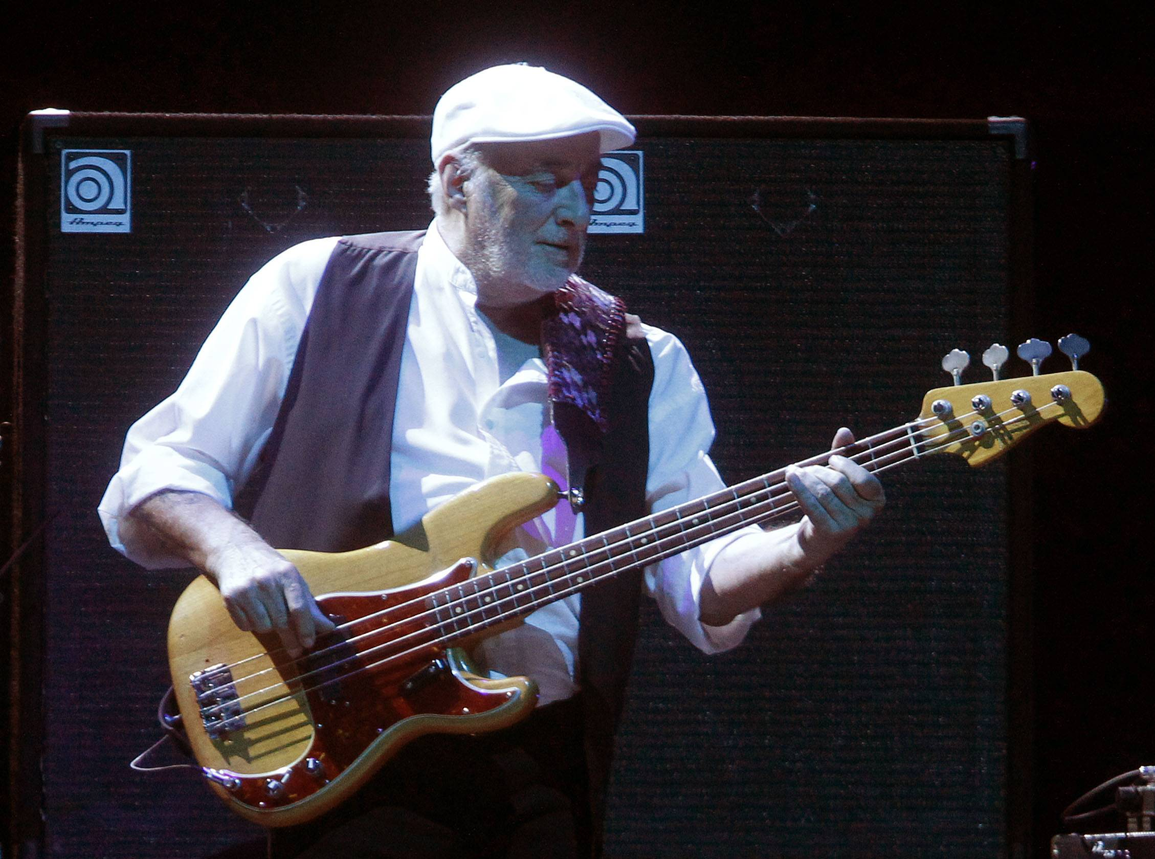 Bassist John McVie and Fleetwood Mac announced a 33-city U.S. tour Thursday. It's the first set of shows since they canceled performances last year when McVie was treated for cancer.