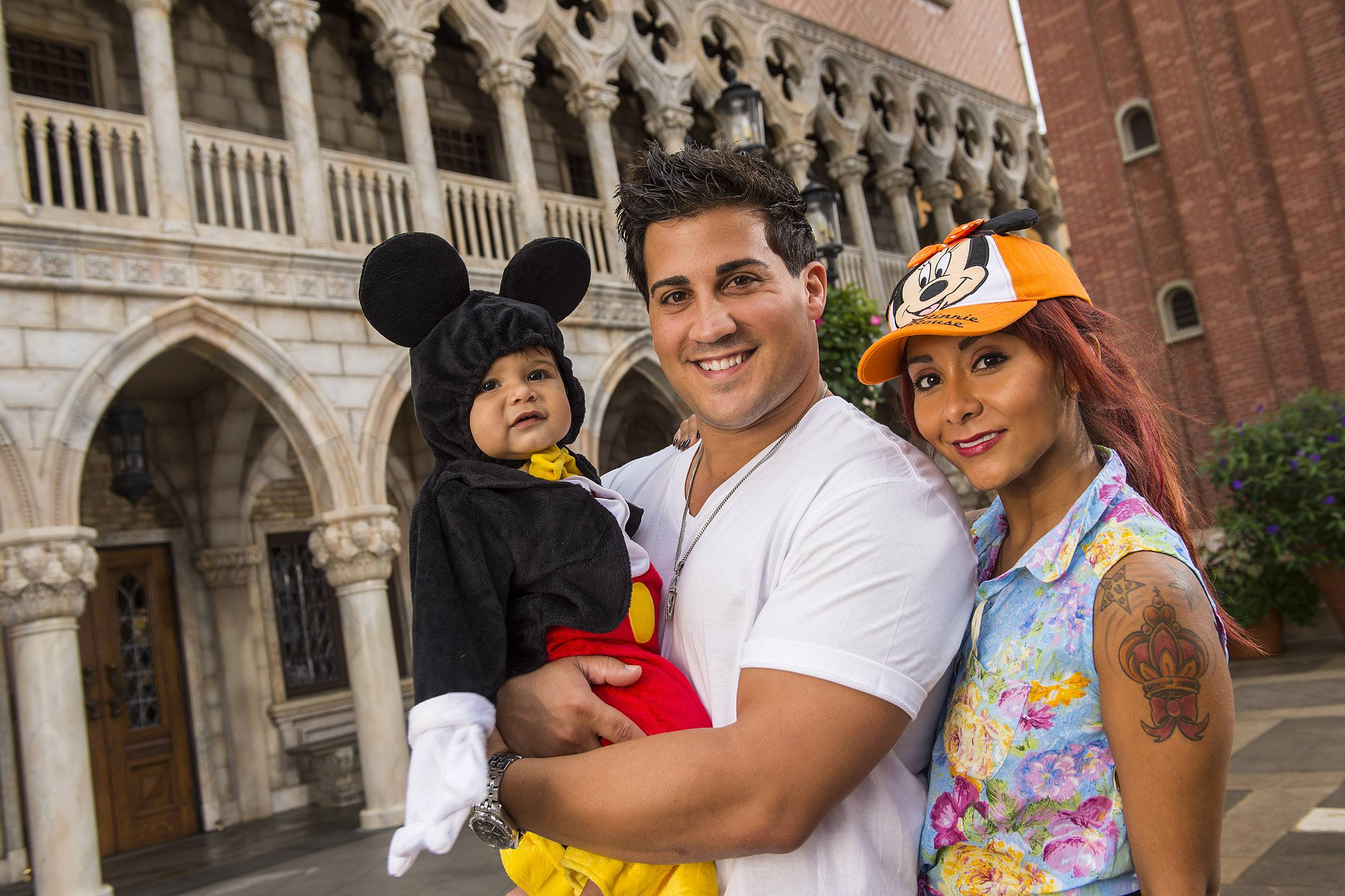 "TV personality Nicole ""Snooki"" Polizzi, right, from ""Jersey Shore,"" and her fiance, Jionni LaValle, intend to marry at the Venetian banquet hall in Garfield, N.J., in fall 2014."