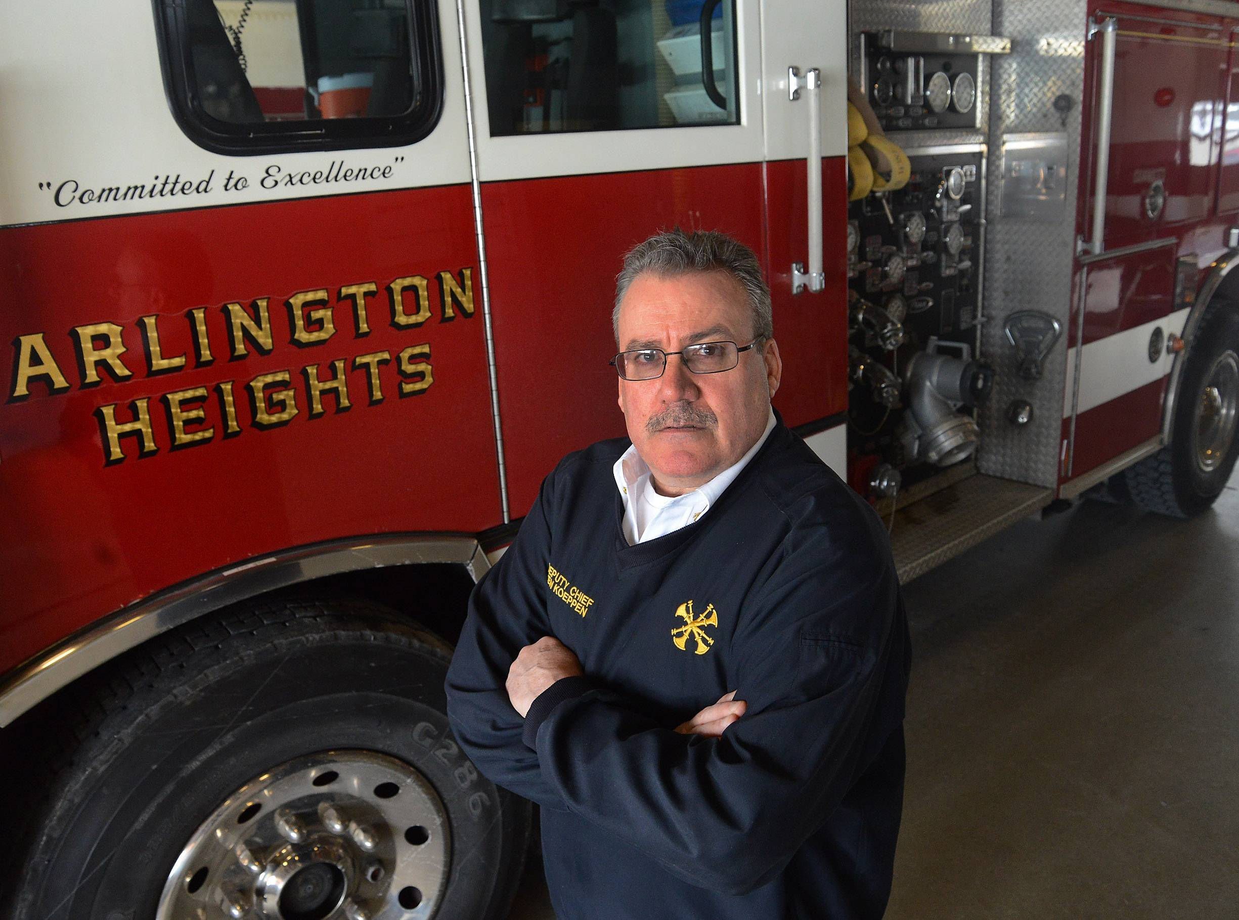 Ken Koeppen is the fifth fire chief in Arlington Heights history.