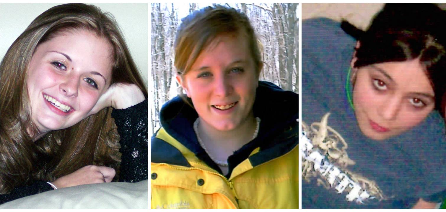 This combination of undated family photos shows, from left, Amber Marie Rose, Natasha Weigel, and Amy Rademaker. All three were killed in deadly car crashes involving GM's Cobalt during 2005-2006.