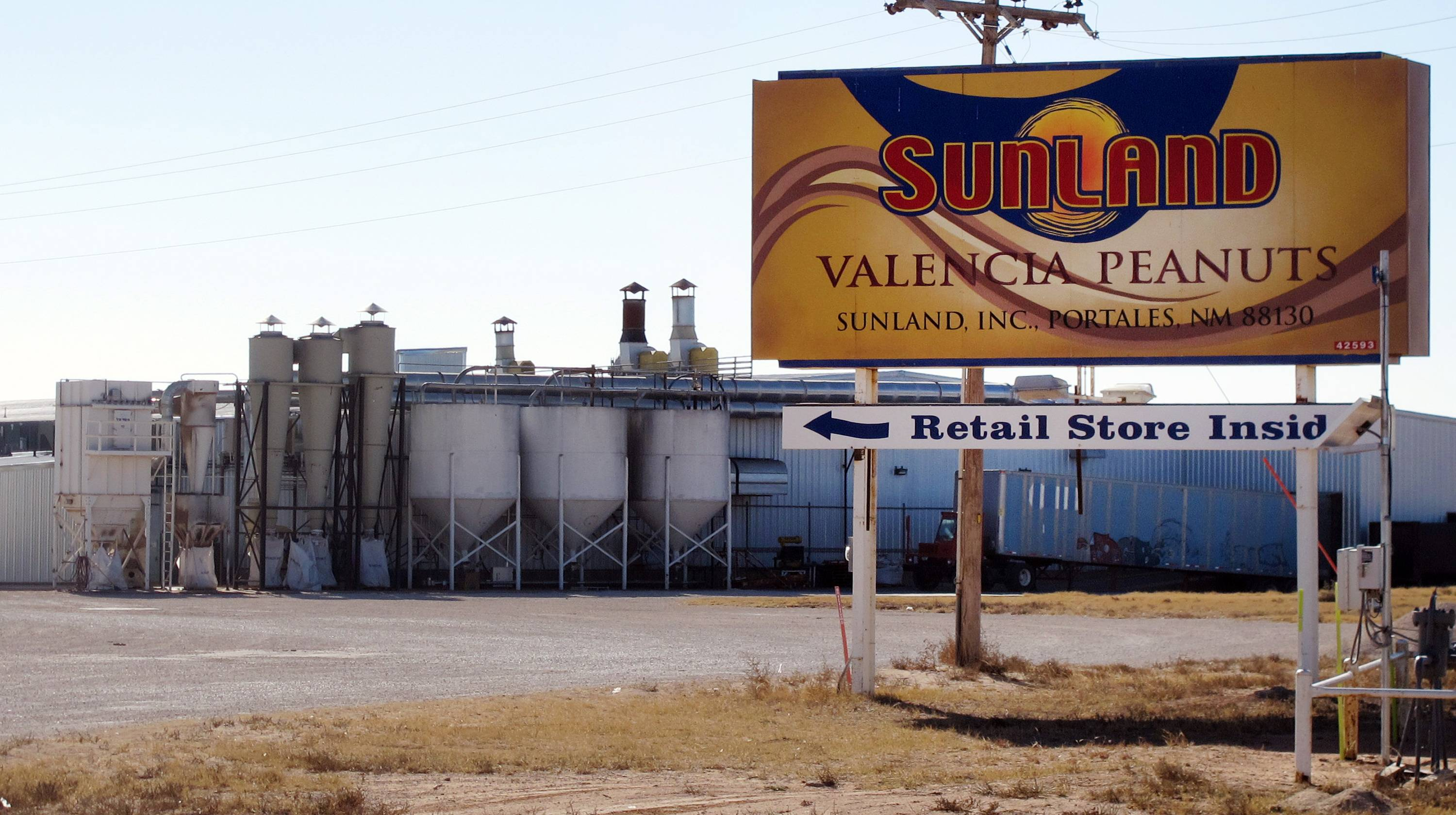 The Sunland Inc. peanut butter and nut processing plant in eastern New Mexico, near Portales. Nearly a million jars of peanut butter are being dumped at a New Mexico landfill to expedite the sale of Sunland Inc. the bankrupt peanut-processing plant that was at the heart of a 2012 salmonella outbreak and nationwide recall.