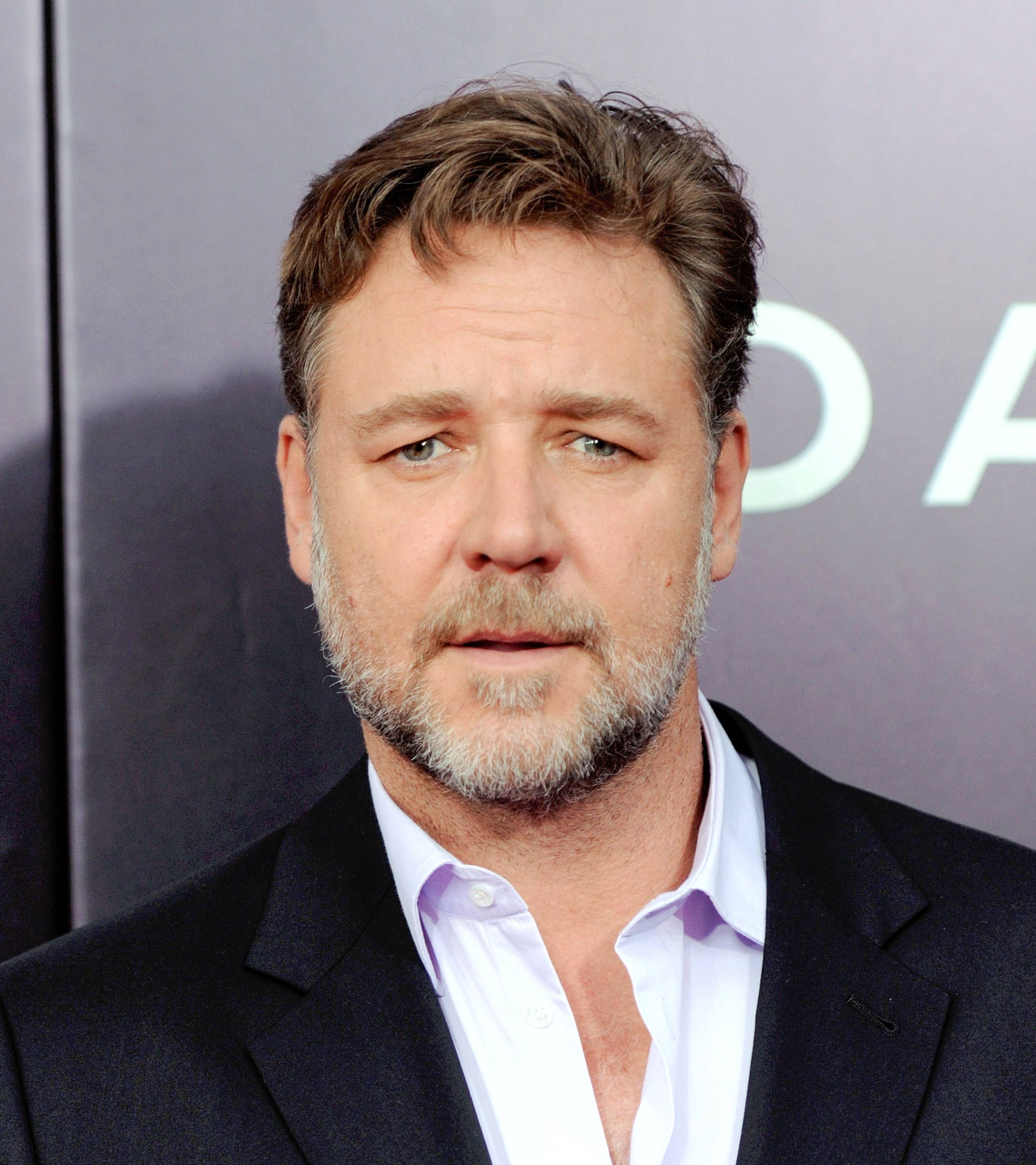 "Actor Russell Crowe attends the premiere of ""Noah"" at the Ziegfeld Theatre on Wednesday in New York."