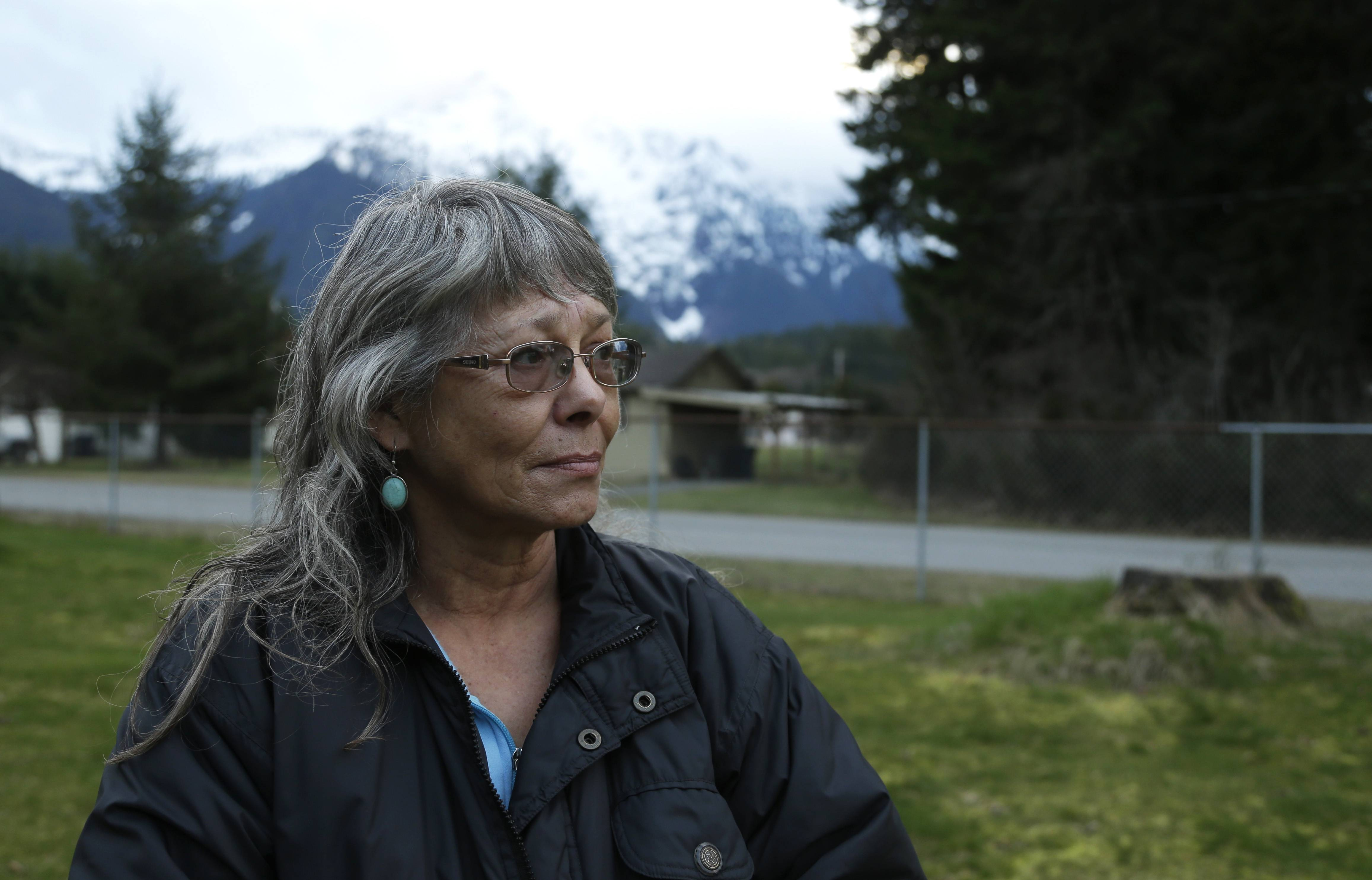 Robin Youngblood survived the massive mudslide that hit the nearby community of Oso, Wash. last Saturday, and was rescued by a helicopter as she floated on a piece of a roof.