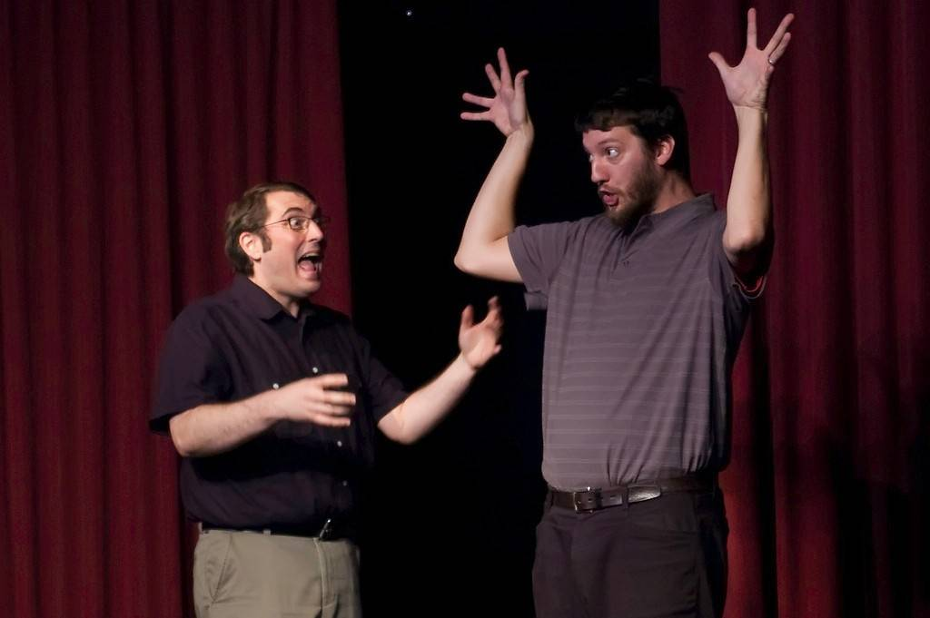 Chris Day and Joe Burton are ensemble members of Laugh Out Loud Theater. The Schaumburg-based comedy troupe is part of the 17th annual Chicago Improv Festival, and it will also host other short-form improvisers from around the country (and New Zealand) at its location at the Woodfield Mall.