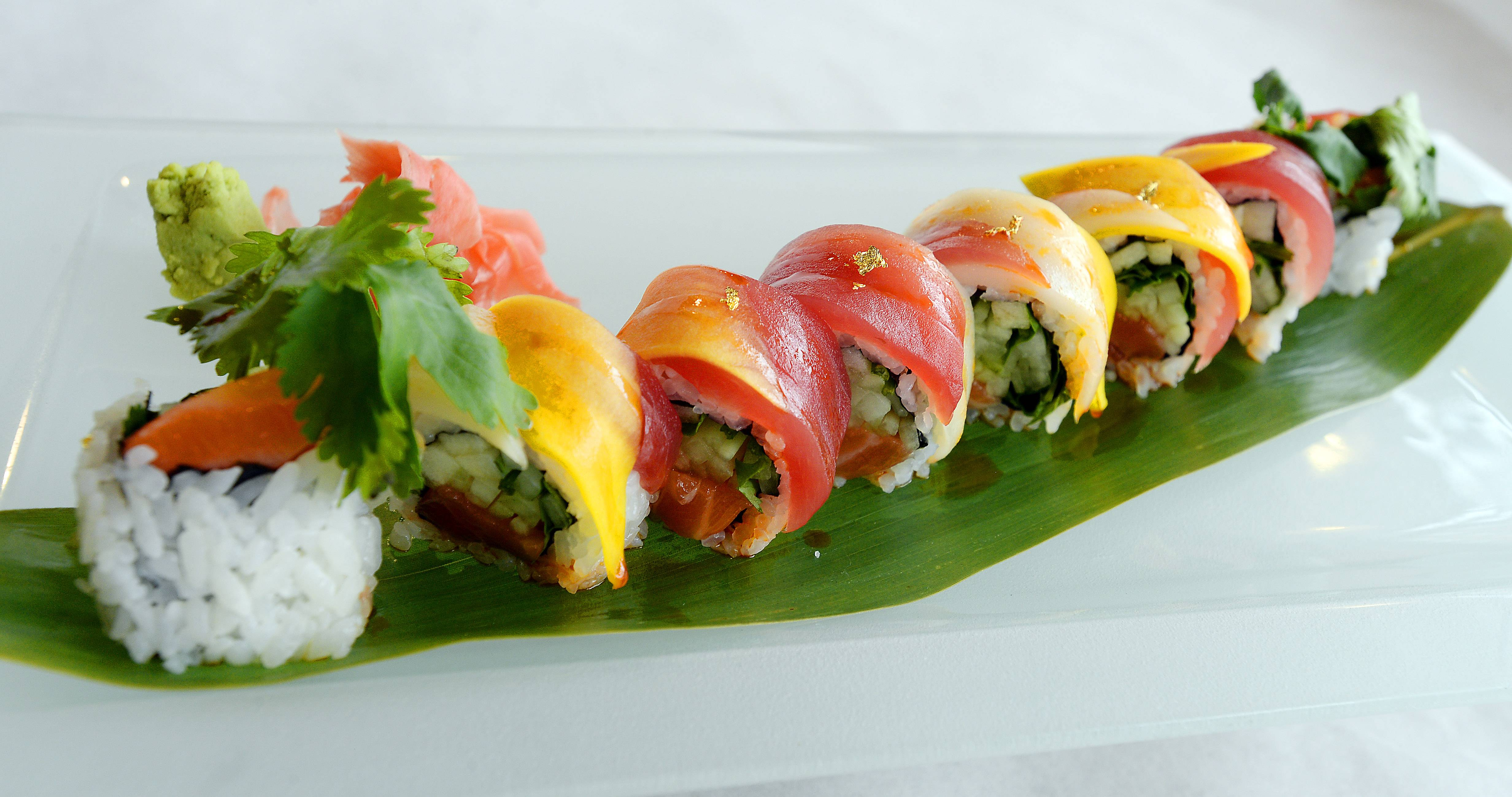 The Golden Dragon Roll is one of the sushi options at Bistro Chen.